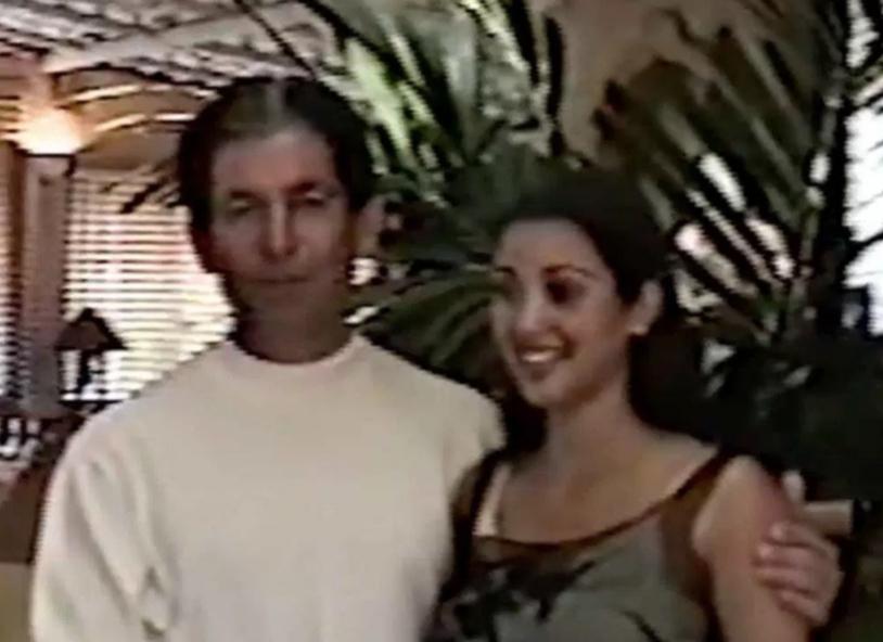 Kim Kardashian and her father Robert Kardashian appear in a home movie published on KimKardashianWest.com on Feb. 22, 2018.