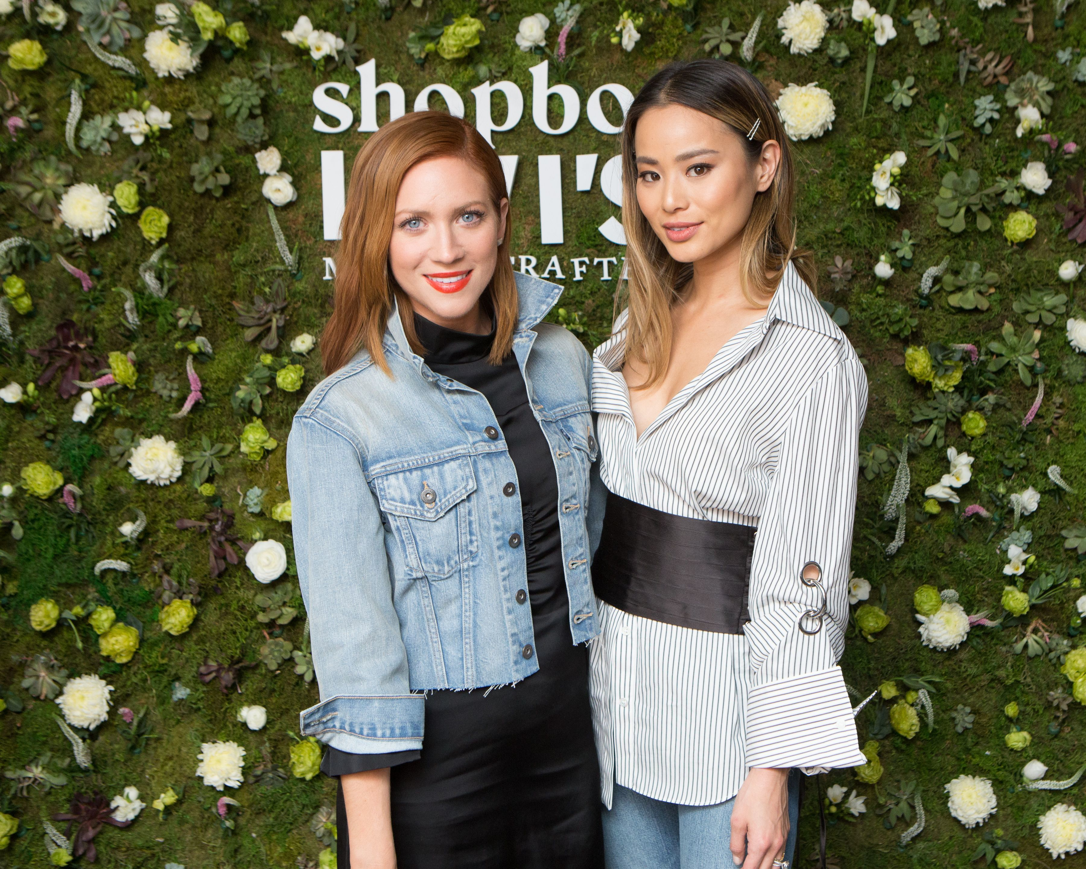 Brittany Snow and Jamie Chung attend the Shopbop + Levi's Made & Crafted Celebrate Exclusive Capsule Collection in Los Angeles on Feb. 22, 2018.