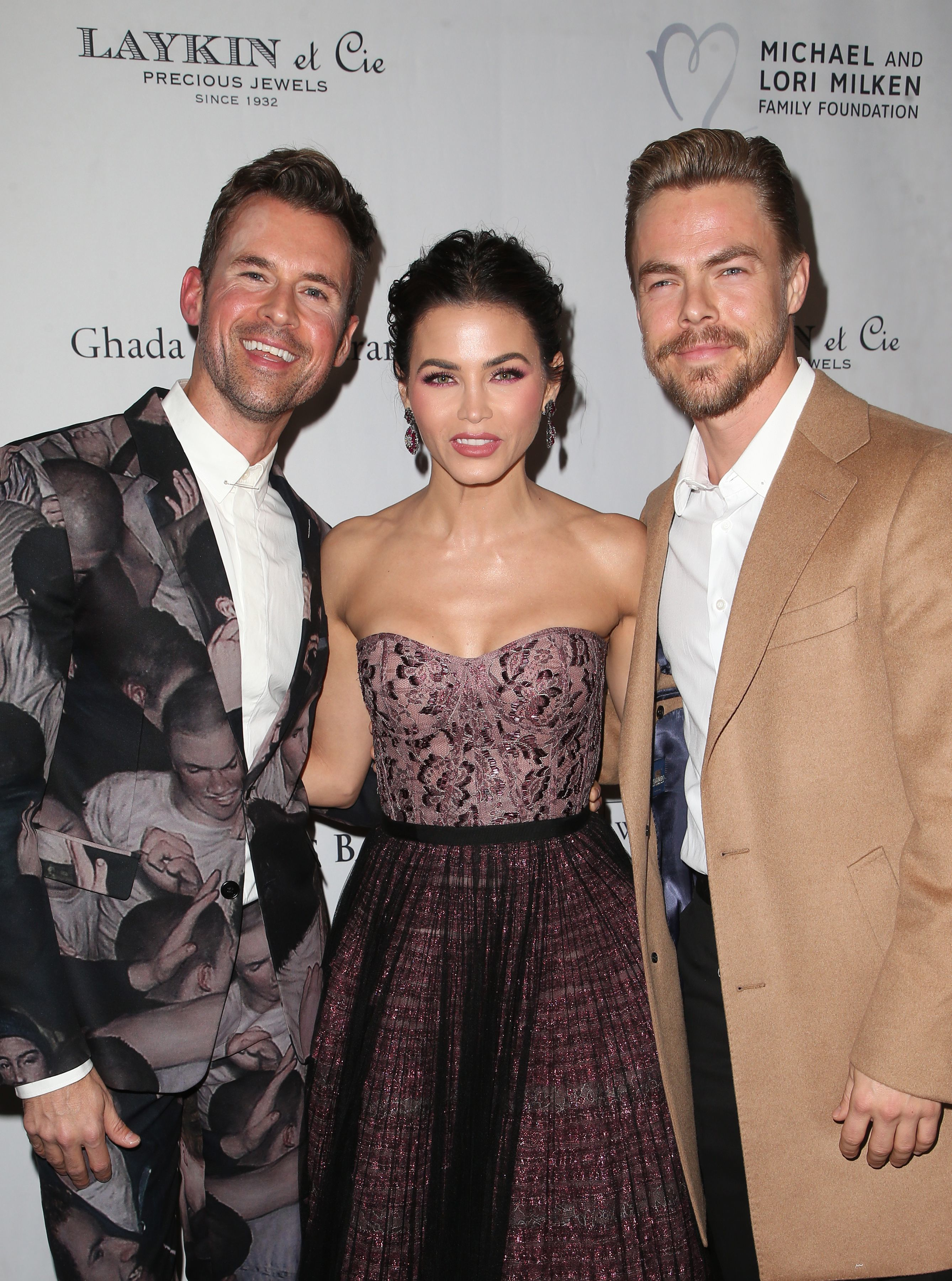 Brad Goreski, Jenna Dewan, and Derek Hough appear at the Los Angeles Ballet Gala on Feb. 24, 2018.