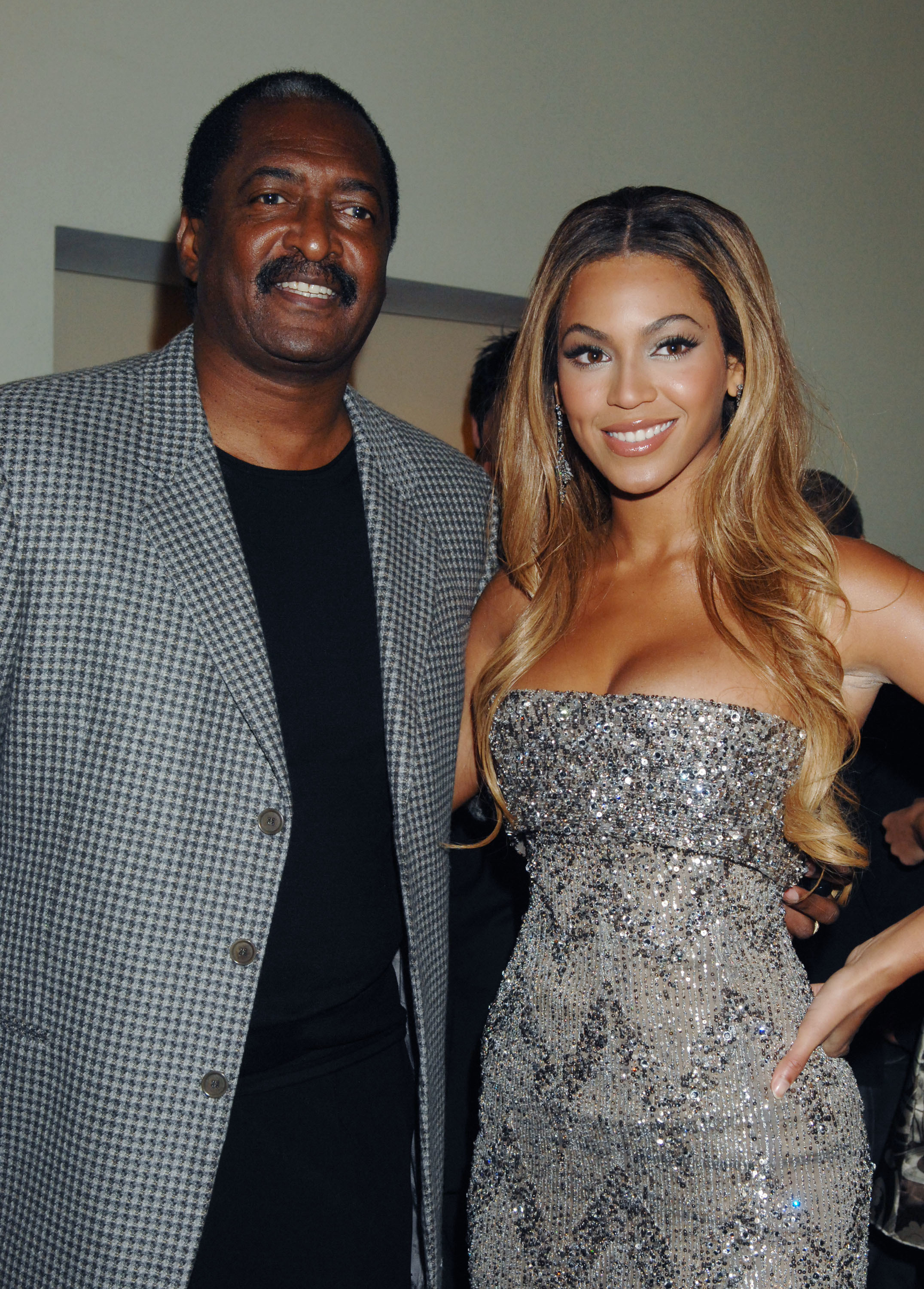 "Mathew Knowles and Beyonce attend the '""Dreamgirls"" Uk Premiere at the Odeon Leicester Square in London in 2006."