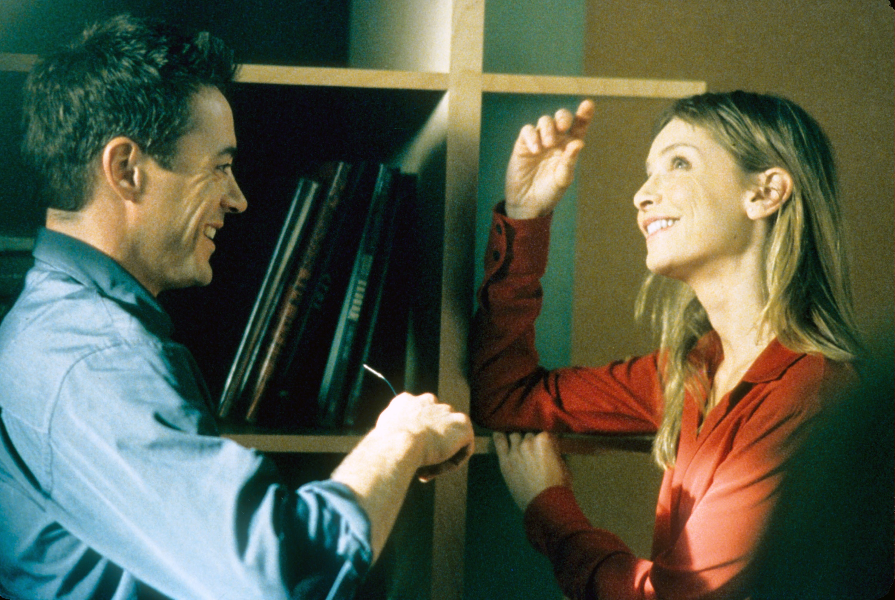 """Robert Downey, Jr. and Calista Flockhart in """"Ally McBeal"""" in 2003."""