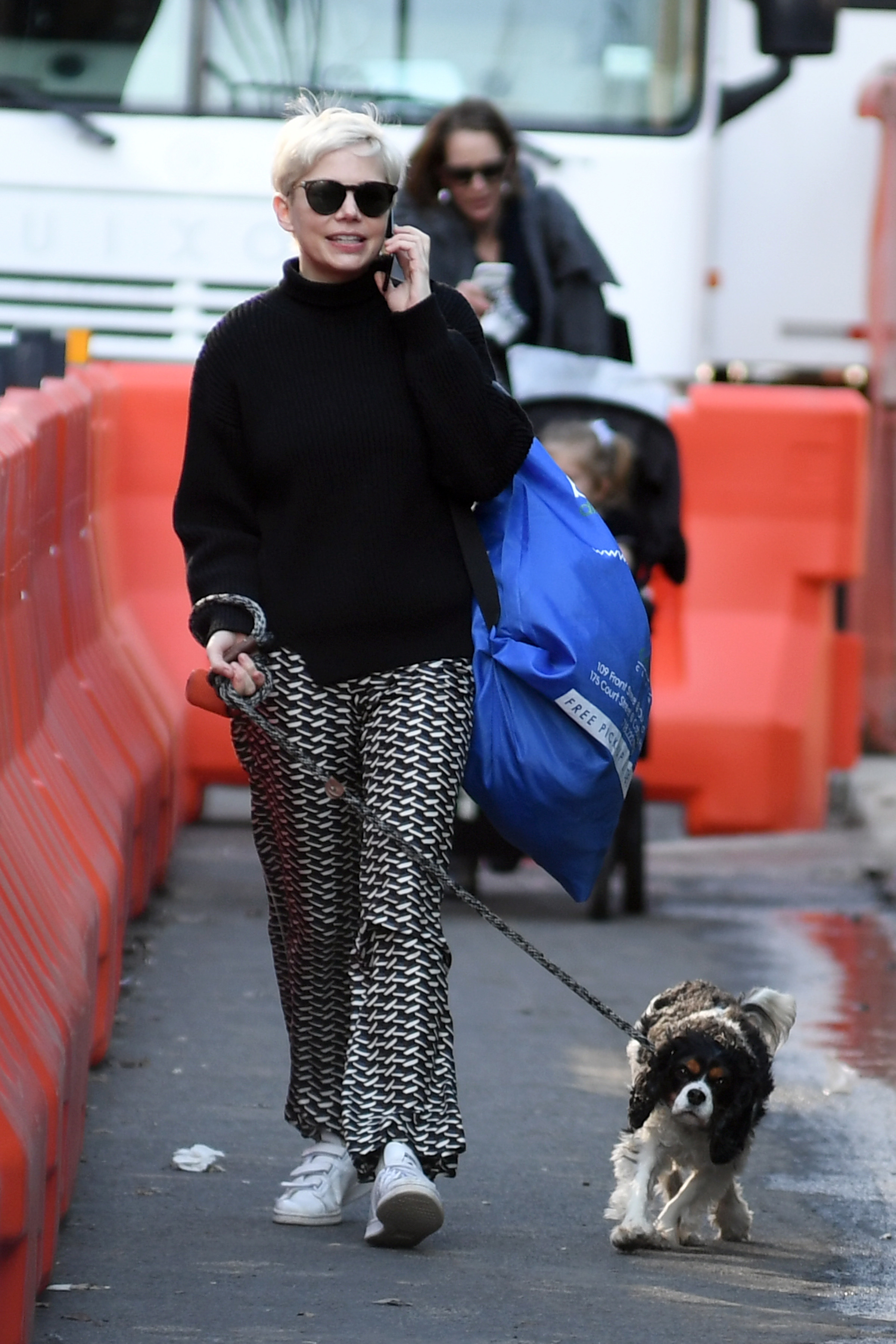 Michelle Williams was seen taking her clothes to the laundry in the Brooklyn area of New York City  on Feb. 28, 2018.