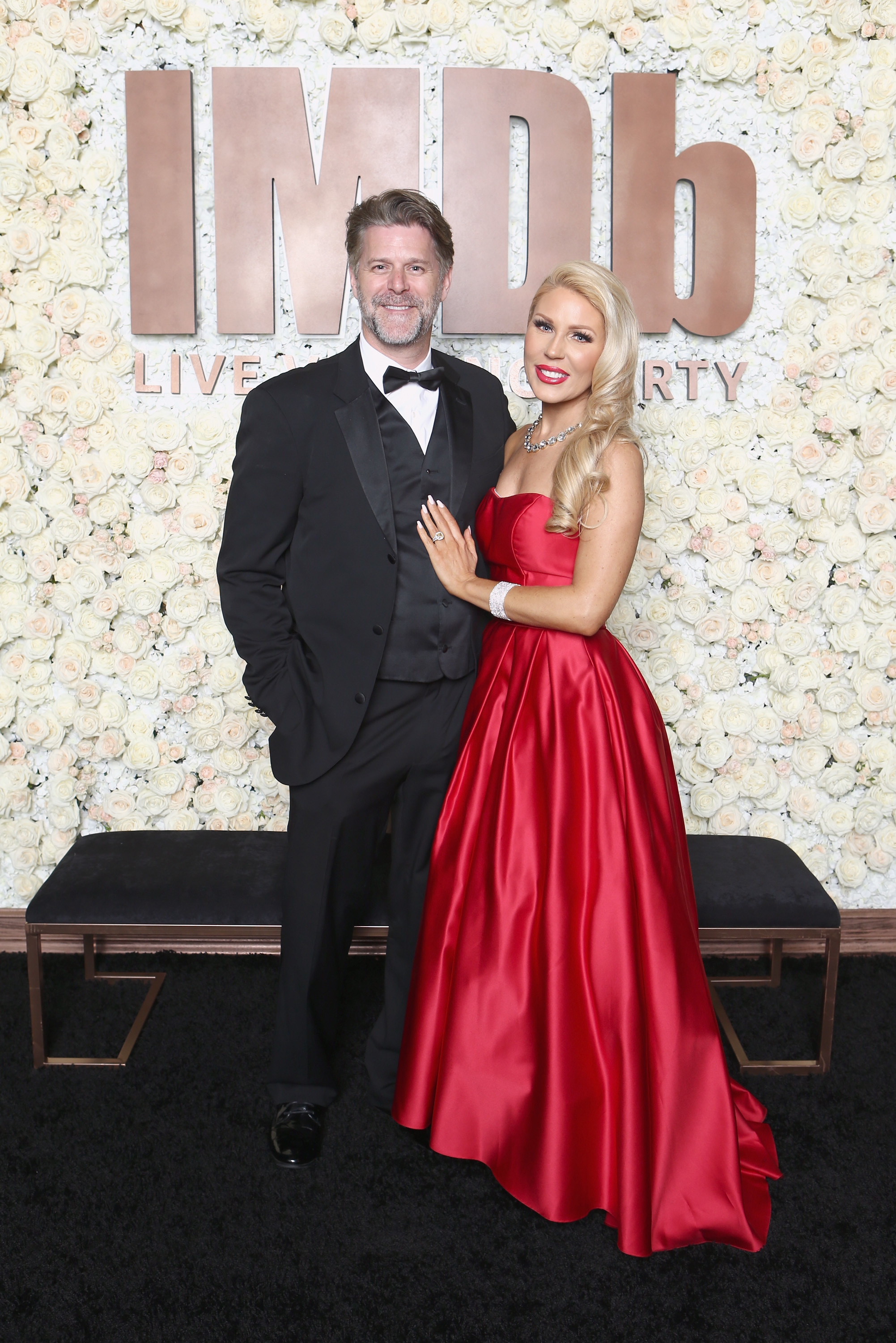 Slade Smiley and Gretchen Rossi attend the IMDb LIVE Academy Awards Viewing Party at Neuehouse in Hollywood on March 4, 2018.