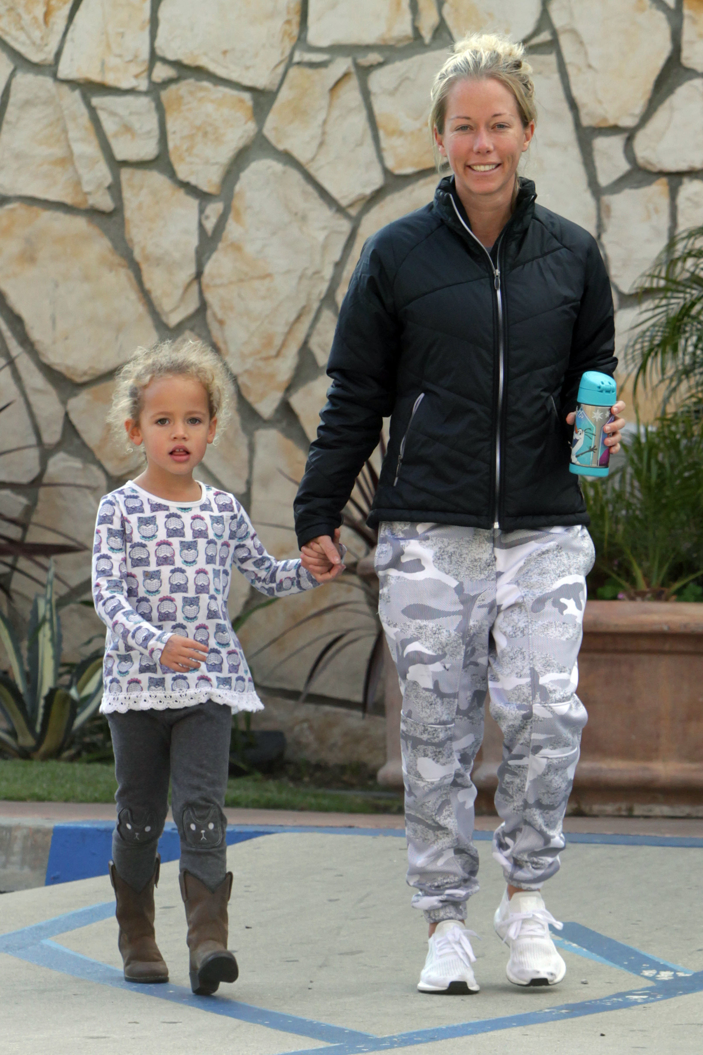 Kendra Wilkinson and her gorgeous daughter Alijah Baskett were seen looking casual while out in Los Angeles on Feb. 28, 2018.