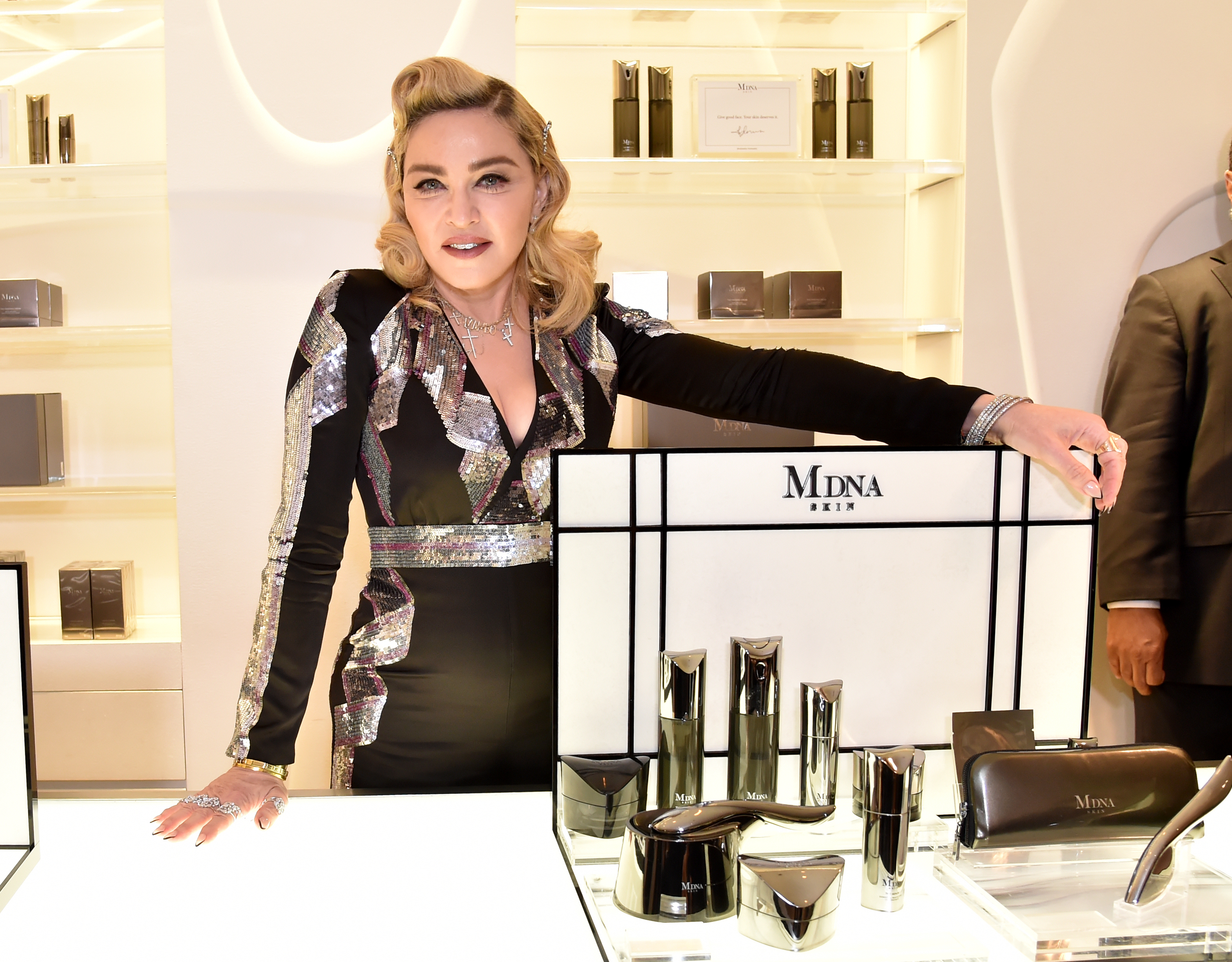 Madonna visits MDNA SKIN Counter at Barneys New York City in  Beverly Hills, California, on March 6, 2018.