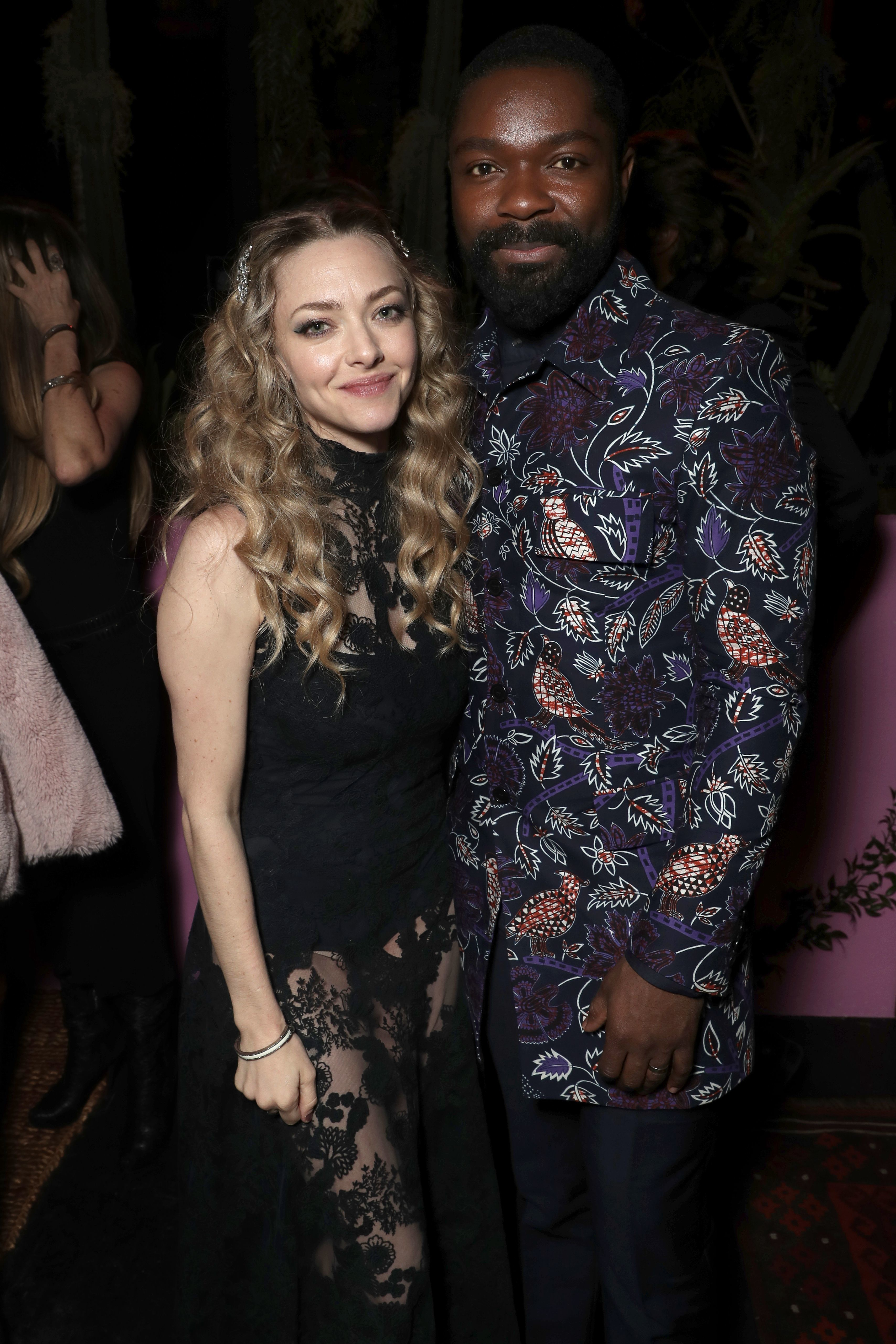 """Amanda Seyfried and David Oyelowo attend the """"Gringo"""" film premiere party in Los Angeles on March 6, 2018."""