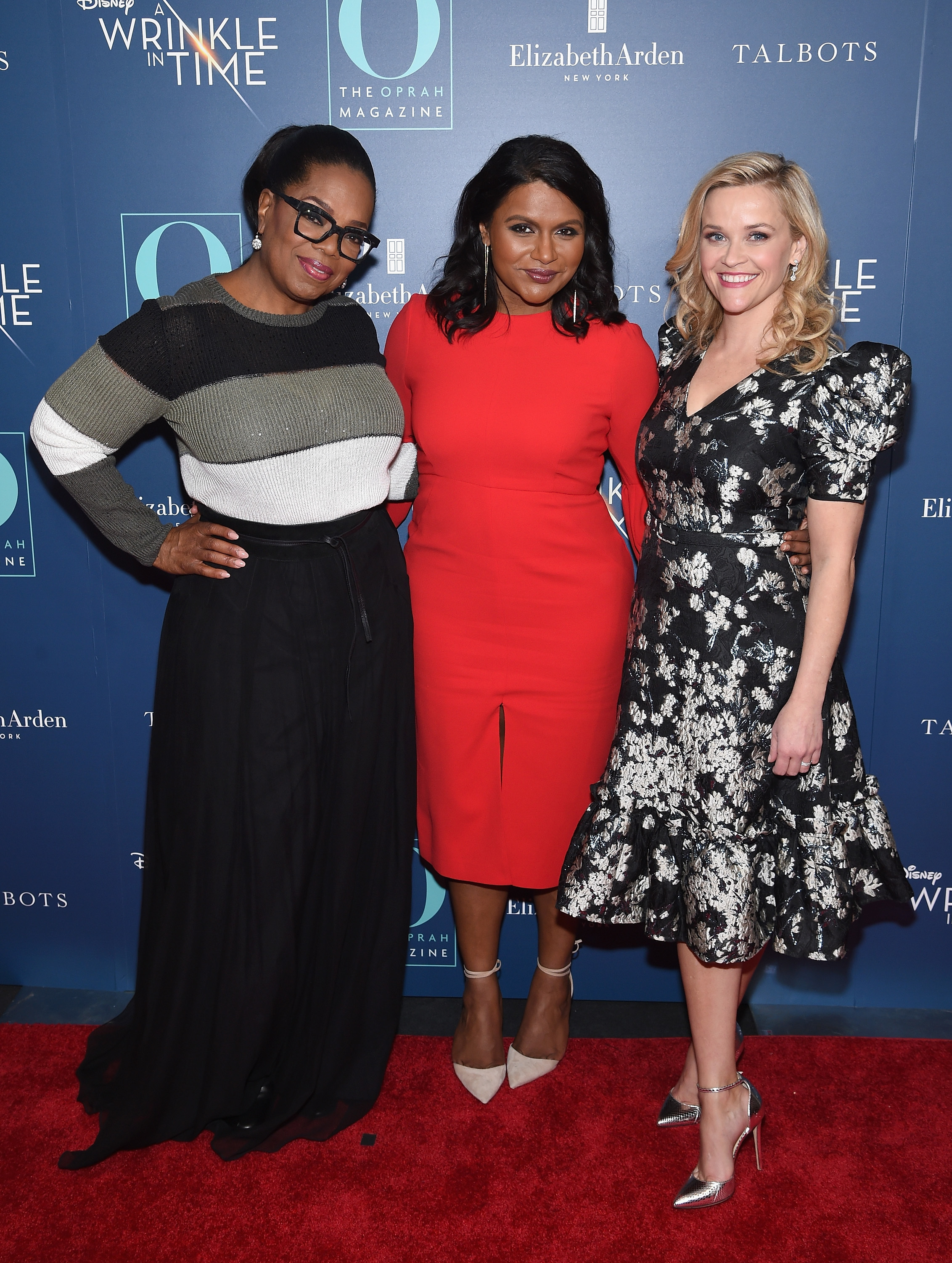 "Oprah Winfrey, Mindy Kaling and Reese Witherspoon attend a special screening of ""A Wrinkle in Time"" hosted by O, The Oprah Magazine at the Walter Reade Theater in New York City on March 7, 2018."