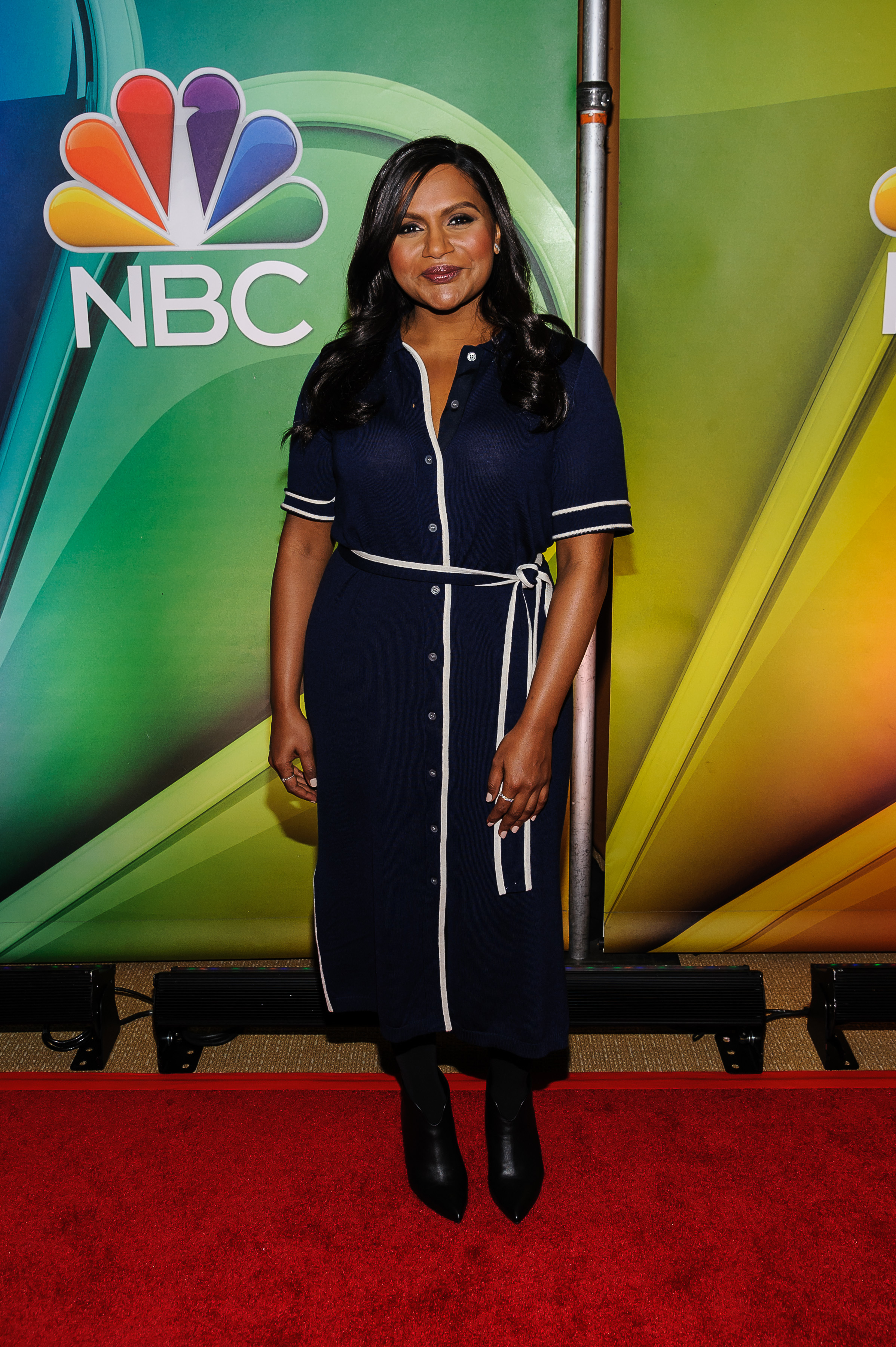 Mindy Kaling attends the NBC Mid Season Press Day in New York City on March 8, 2018.
