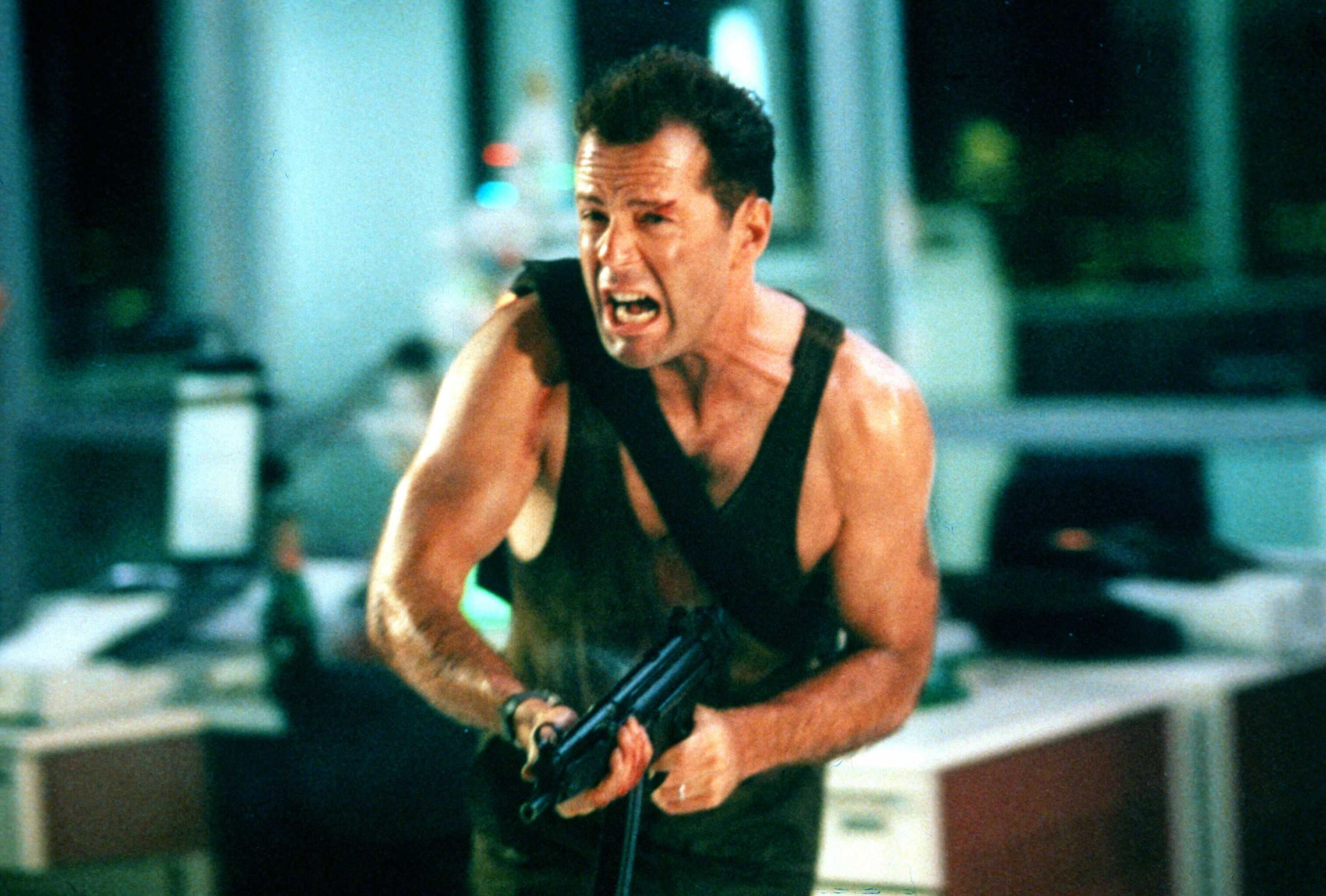 "Bruce Willis in ""Die Hard"" in 1988."