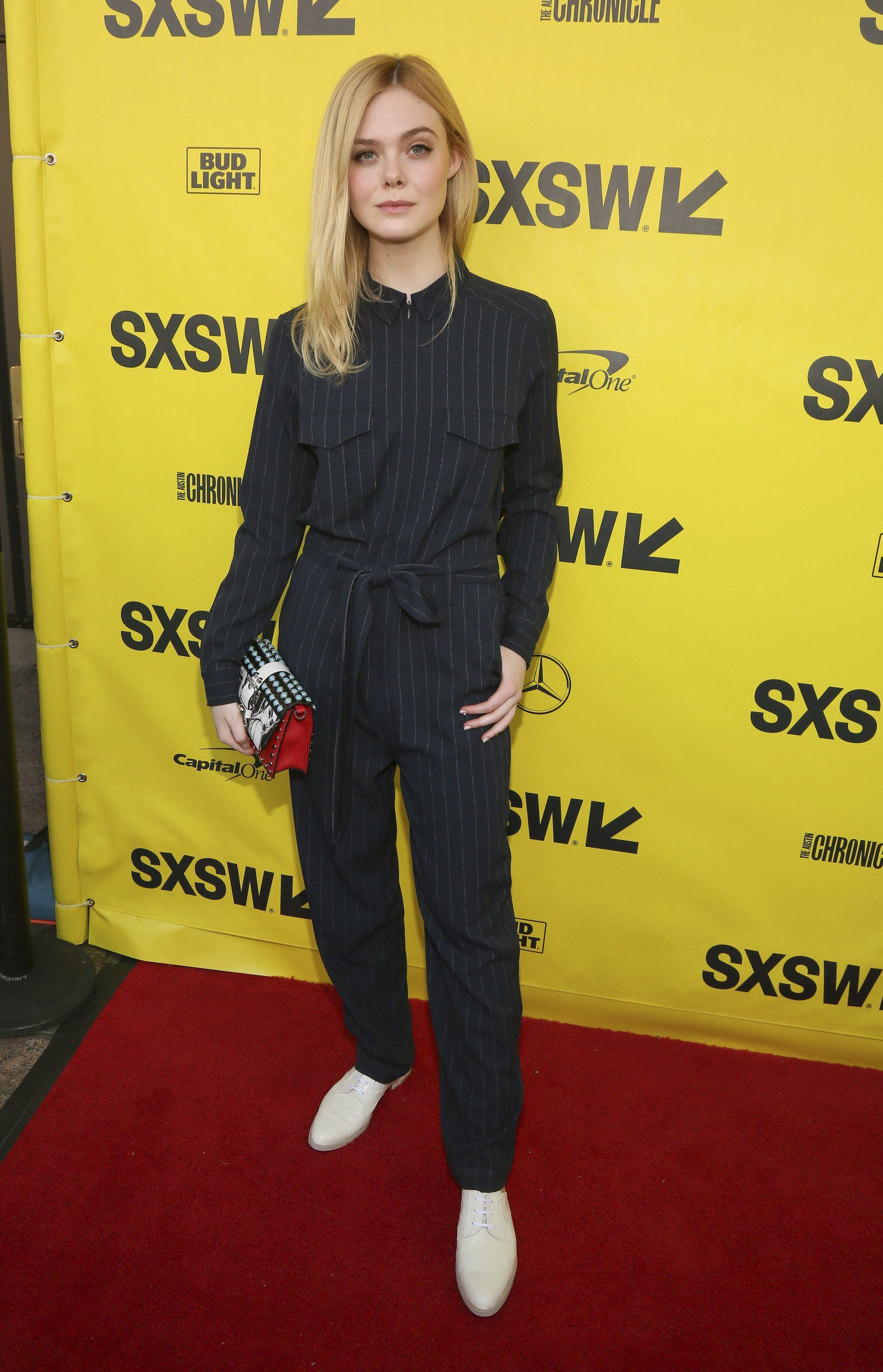 """Elle Fanning attends the SXSW premiere of """"Galveston"""" at the Paramount Theatre in Austin, Texas, on March 10, 2018."""