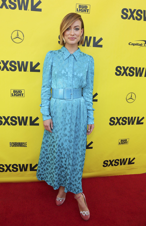 "Olivia Wilde attends the SXSW premiere of ""A Vigilante"" at the Paramount Theatre in Austin, Texas, on March 10, 2018."