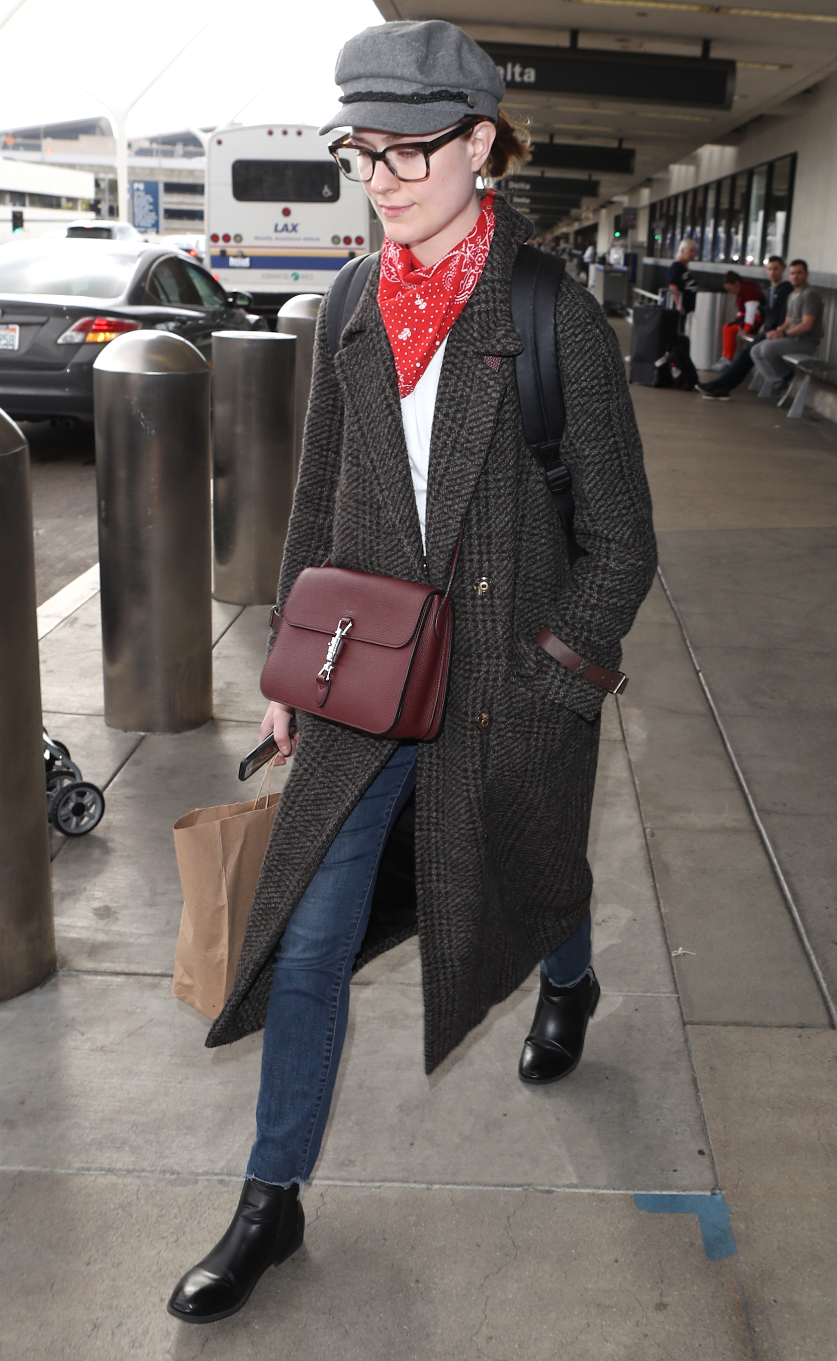 Evan Rachel Wood arrives at LAX Airport in Los Angeles on March 11, 2018.