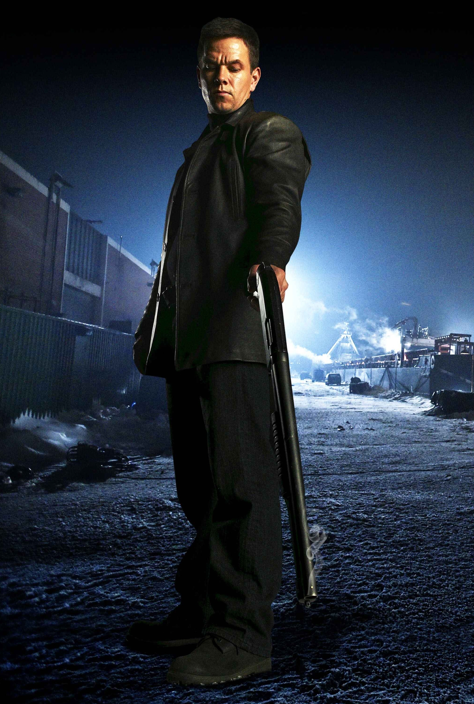 """Mark Wahlberg is shown on the set of """"Max Payne"""" in 2008."""