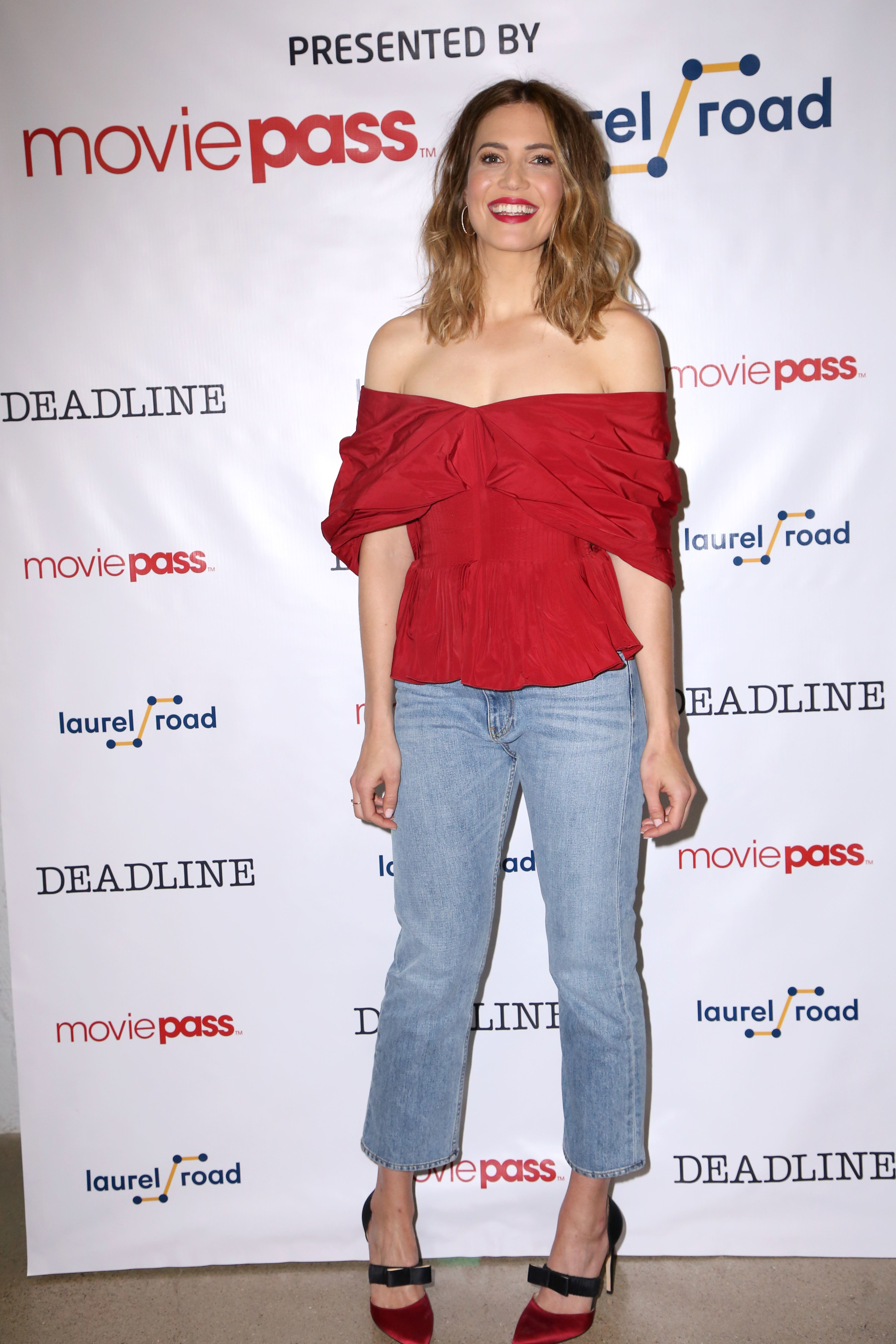 Mandy Moore visits the MoviePass lounge presented by Laurel Road at the Deadline Studio during SXSW in Austin, Texas, on March 12, 2018.