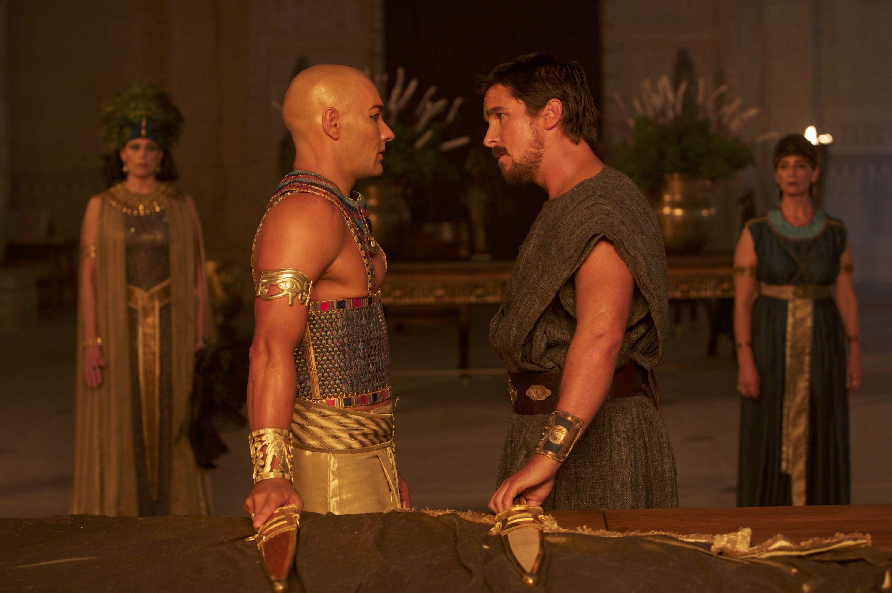 """Joel Edgerton as Ramesses II and Christian Bale as Moses in 2014's """"Exodus: Gods and Kings."""""""