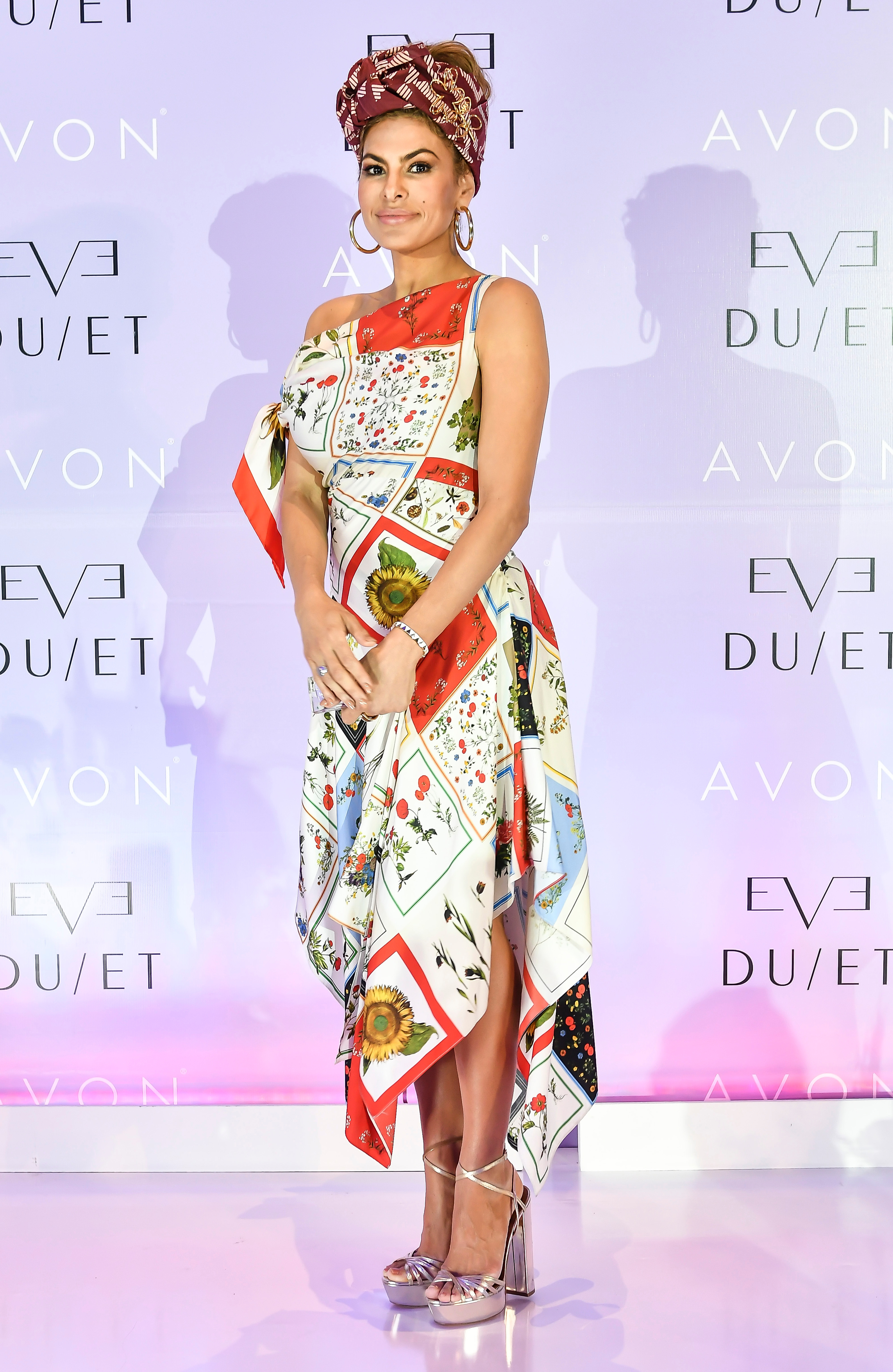 Eva Mendes attends the Eve Due  Perfume Launch in Mexico City on March 21, 2018.