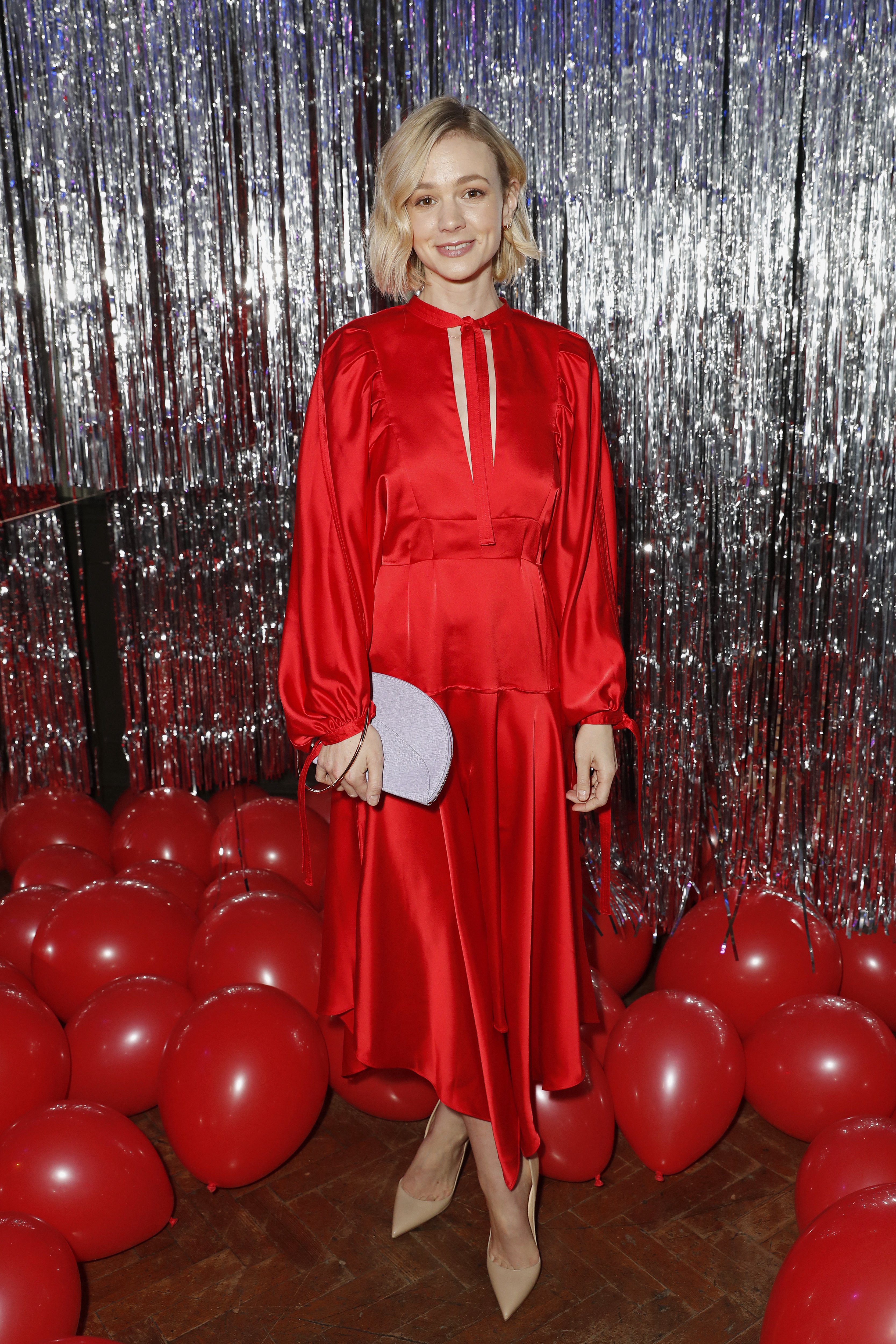 Carey Mulligan attends the Self Portrait store opening after party at Central St Martins in London on March 22, 2018.