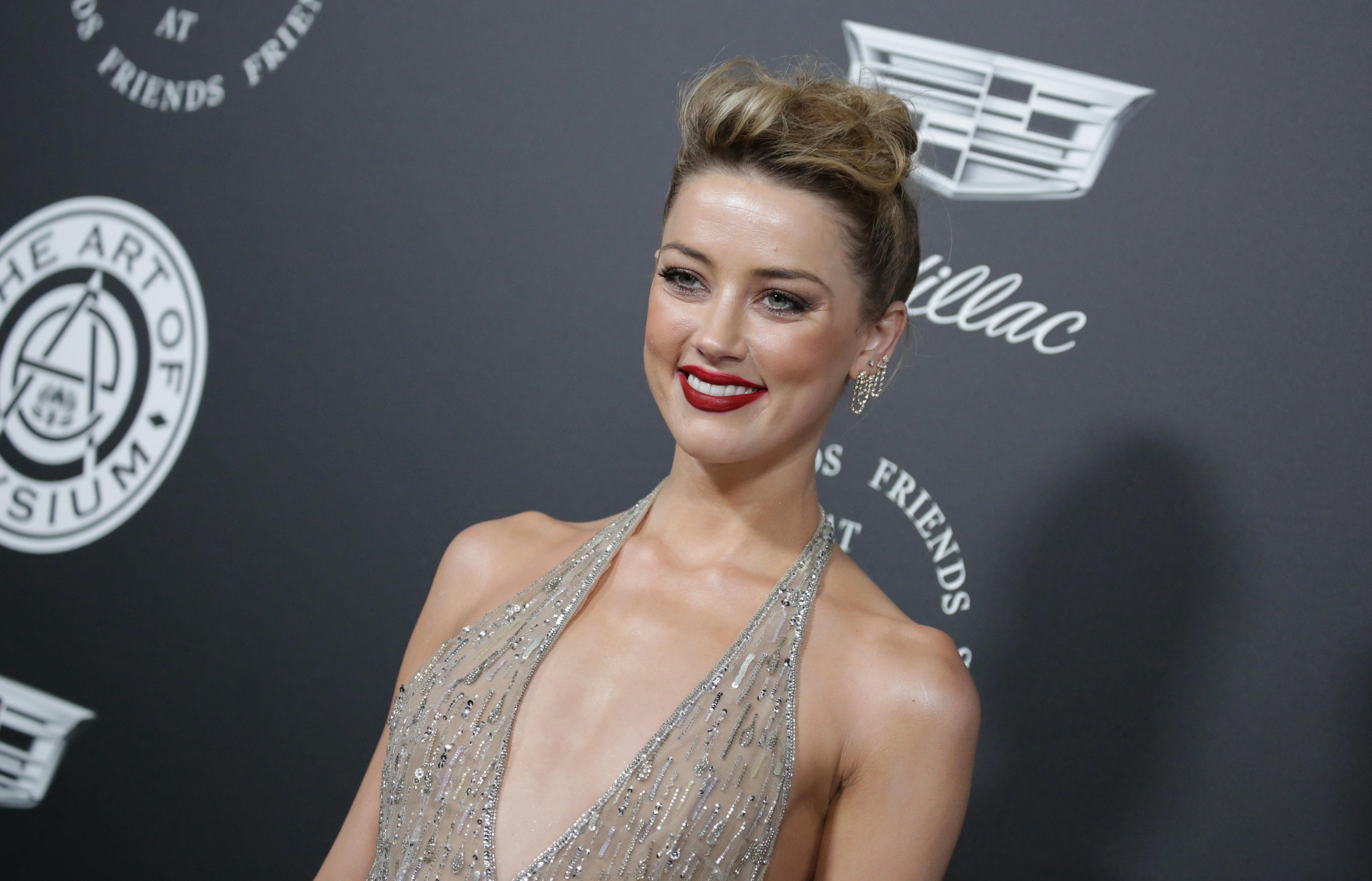 "Amber Heard attends The Art of Elysium ""HEAVEN"" premiere in Los Angeles on Jan. 6, 2018."