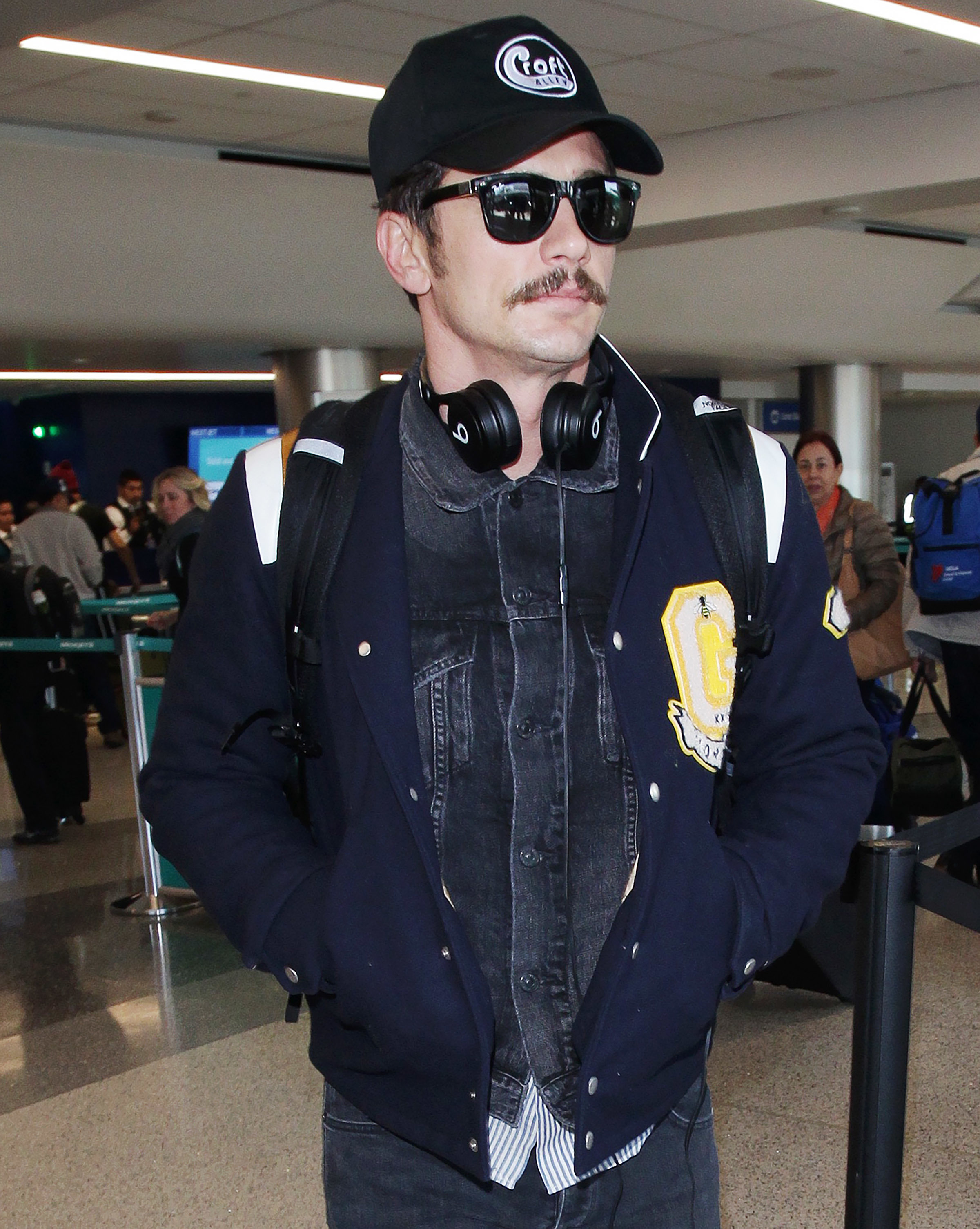 James Franco arrives at LAX International Airport in Los Angeles on April 12, 2018.
