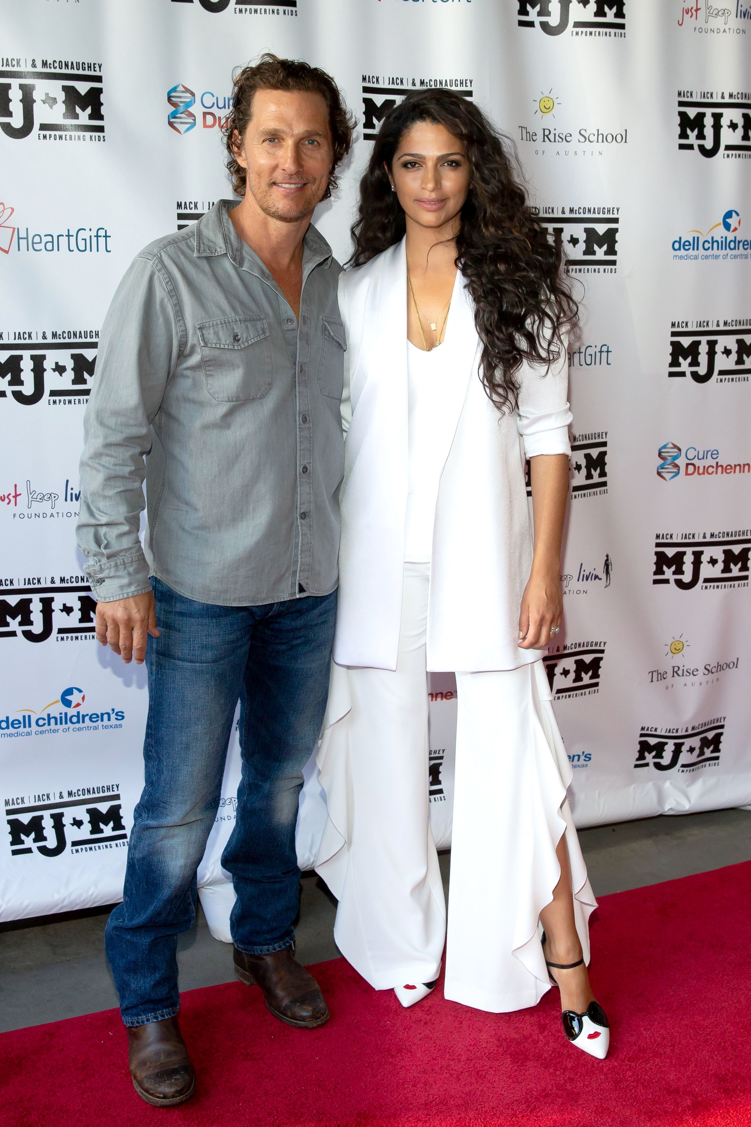 "Matthew McConaughey and Camila Alves attend the ""Mack, Jack and McConaughey"" Gala in Austin on April 12, 2018."
