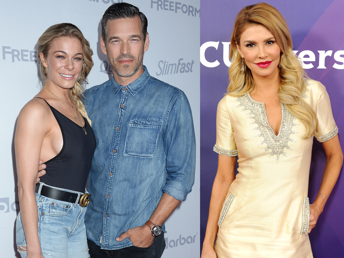 LeAnn Rimes and Eddie Cibrian attend the OK! Magazine Summer Kick Off Party at the W Hotel in Los Angeles on May 17, 2017. Brandi Glanville attends NBCUniversal's Summer Press Day in Los Angeles on April 1, 2016.