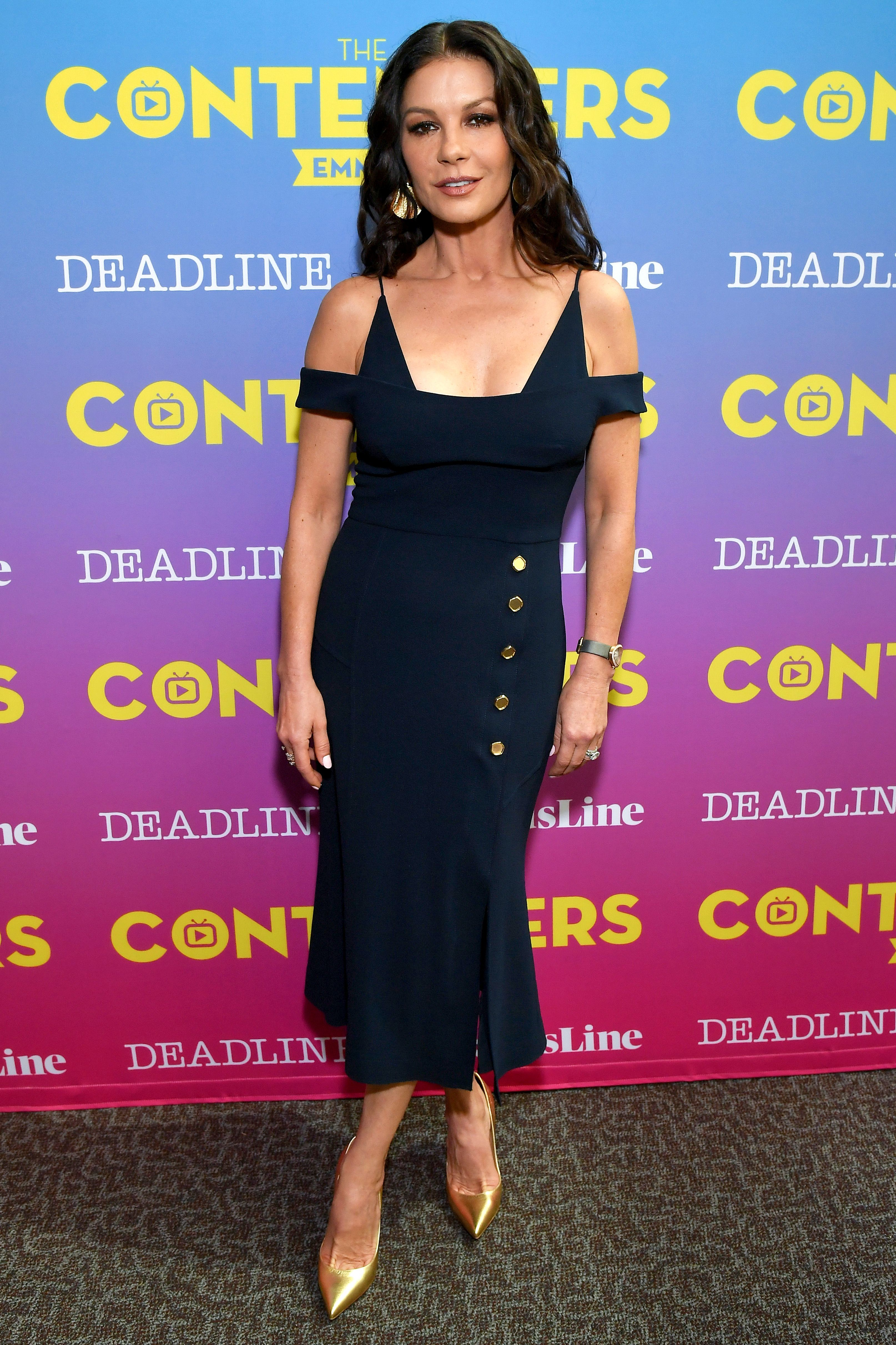 Catherine Zeta Jones attends The Contenders Emmys presented by Deadline Hollywood in Los Angeles on April 15, 2018.