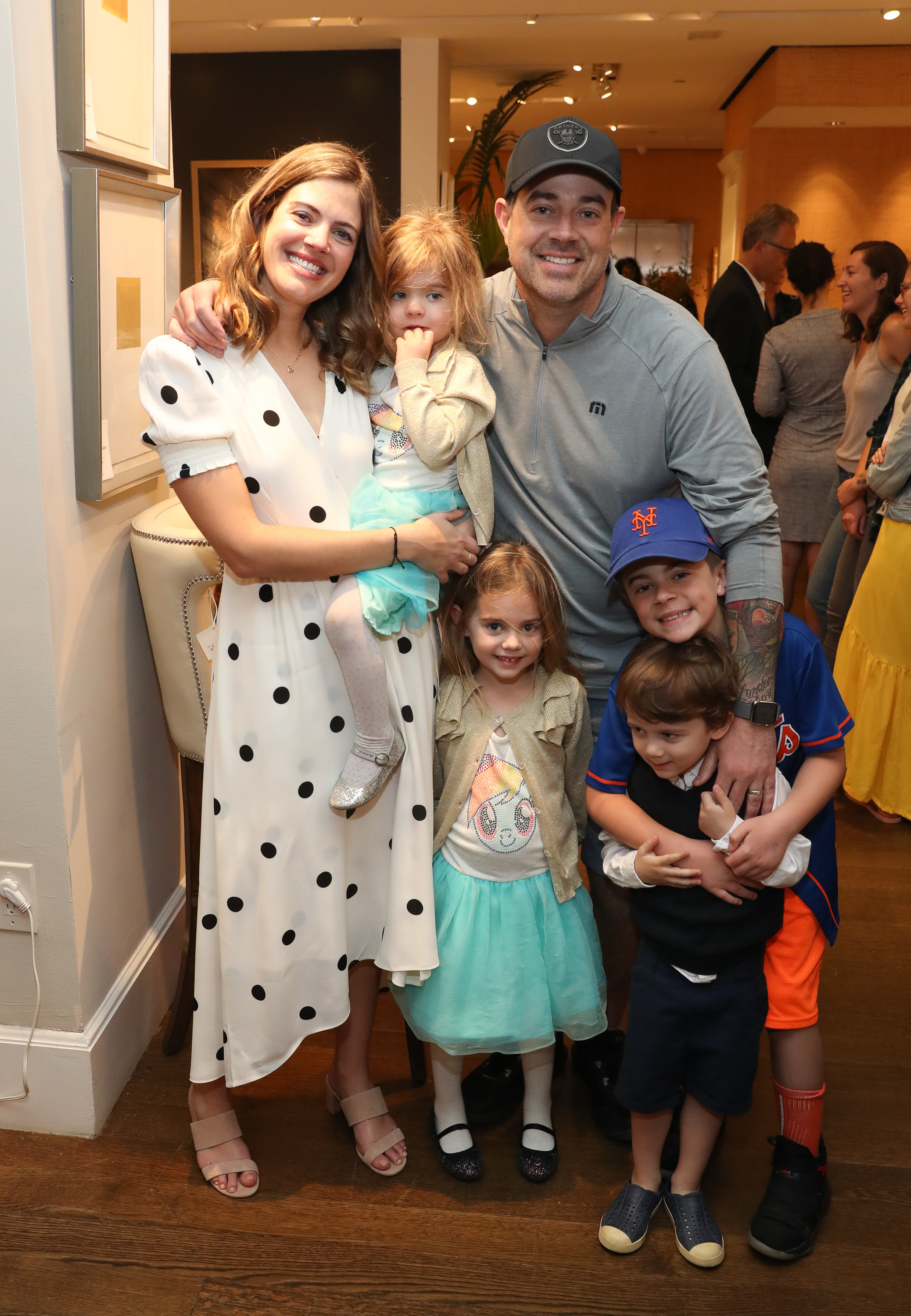 """Siri Daly and Carson Daly, and family, attend """"Siriously Delicious"""" by Siri Daly book launch event at Williams Sonoma Columbus Circle in New York City on April 14, 2018."""