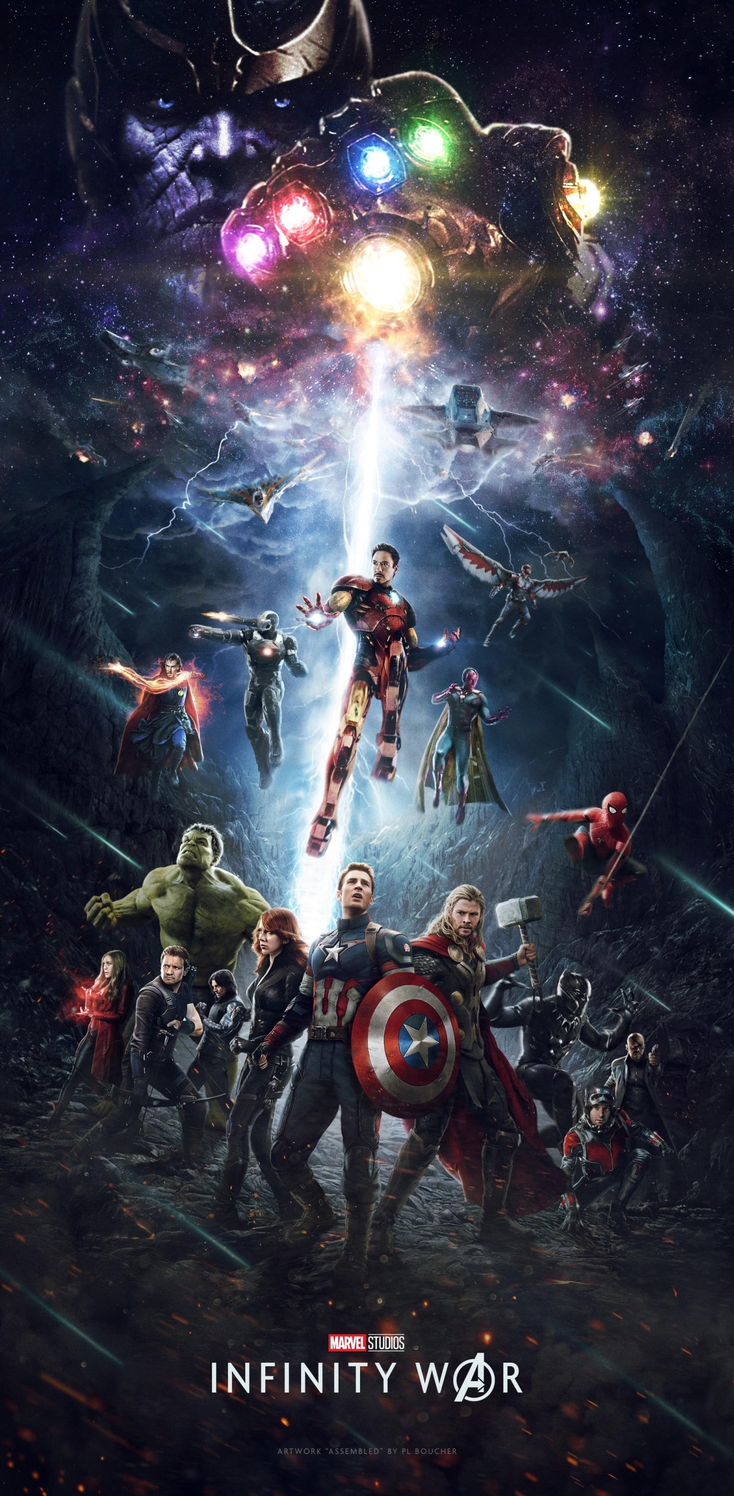 """Poster art for """"Avengers: Infinity War"""" in 2018."""