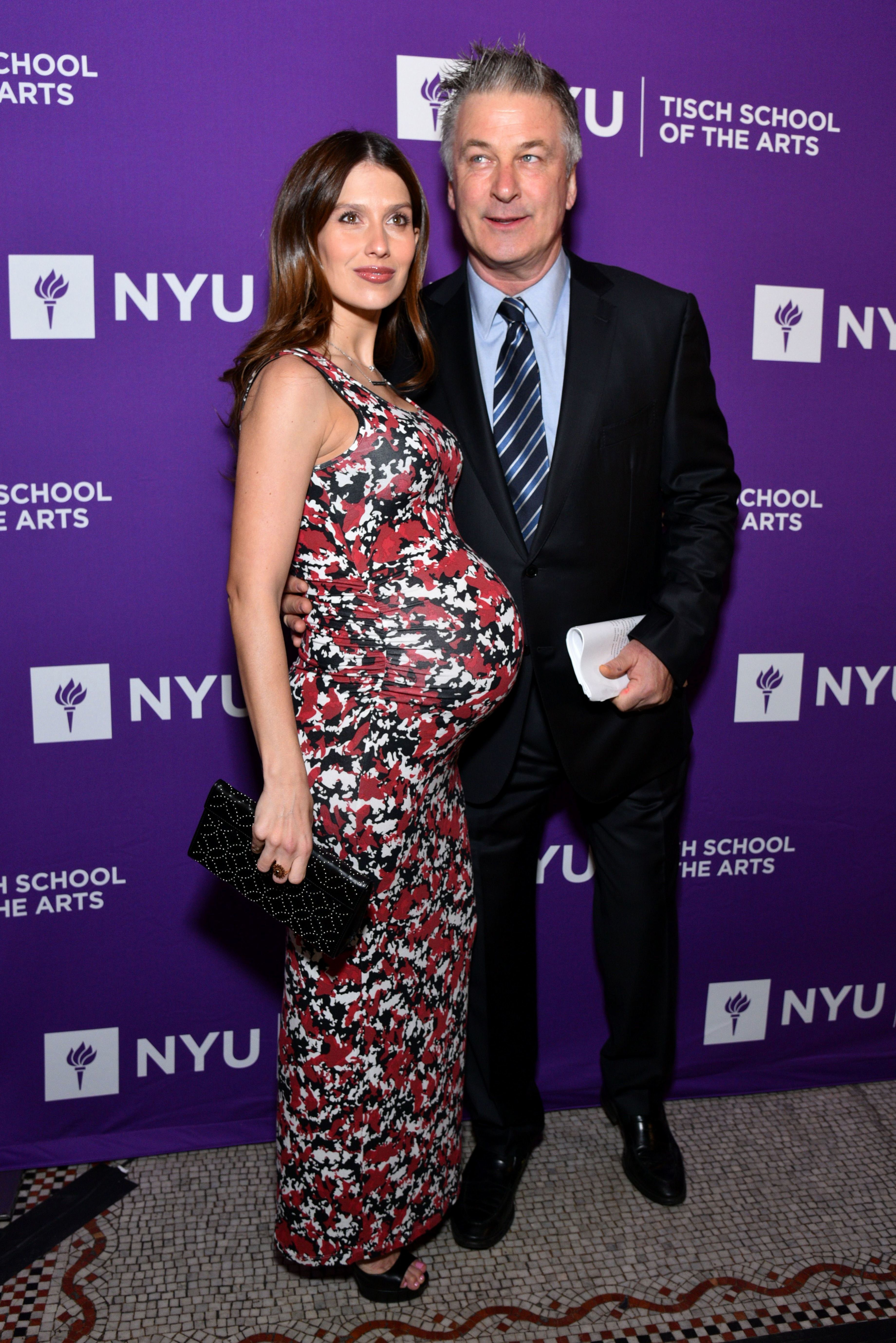 Hilaria Baldwin and Alec Baldwin attend the NYU Tisch School of the Arts Gala in New York City on April 16, 2018.