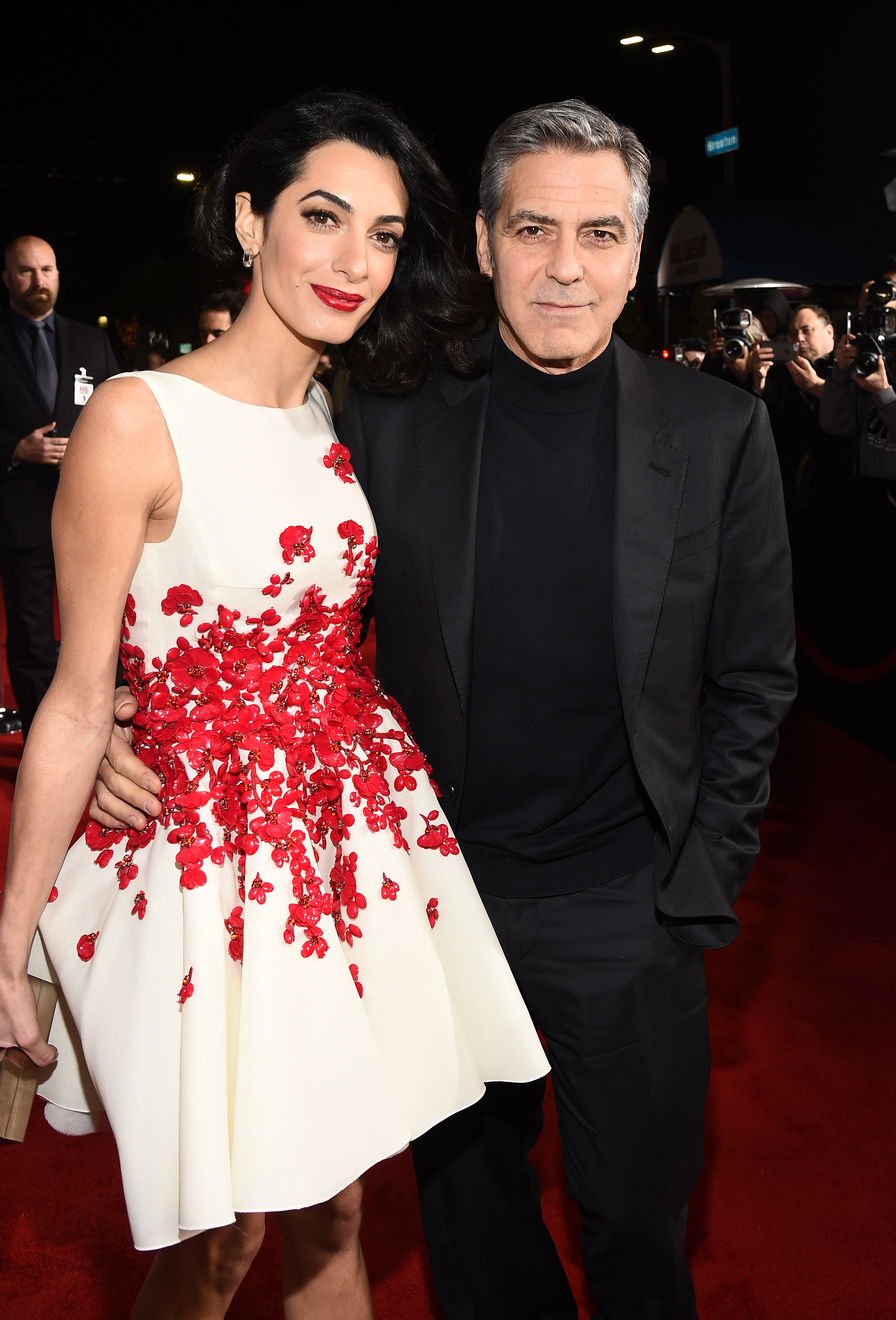 "Amal and George Clooney attend the ""Hail, Caesar!"" premiere in Los Angeles, Calif., on Feb. 1, 2016."