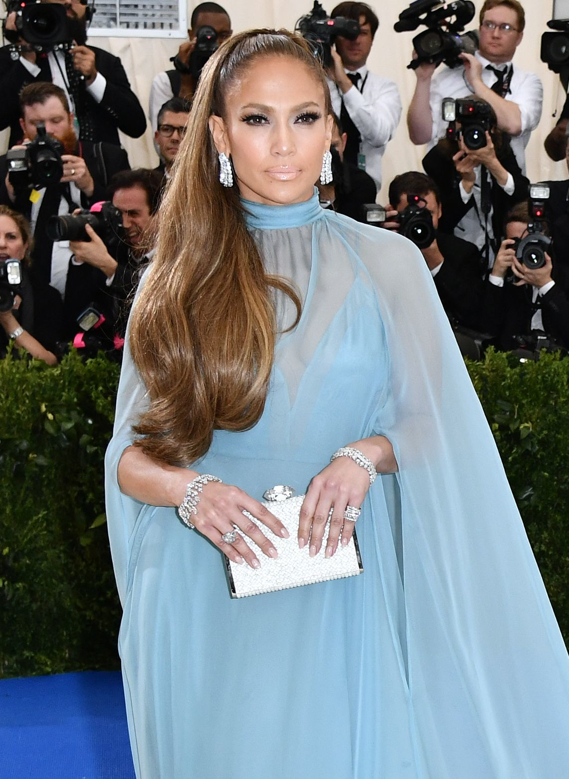 Jennifer Lopez attends the Costume Institute Benefit celebrating the opening of Rei Kawakubo/Comme des Garcons: Art of the In Between at the Metropolitan Museum of Art in New York on May 1, 2017.