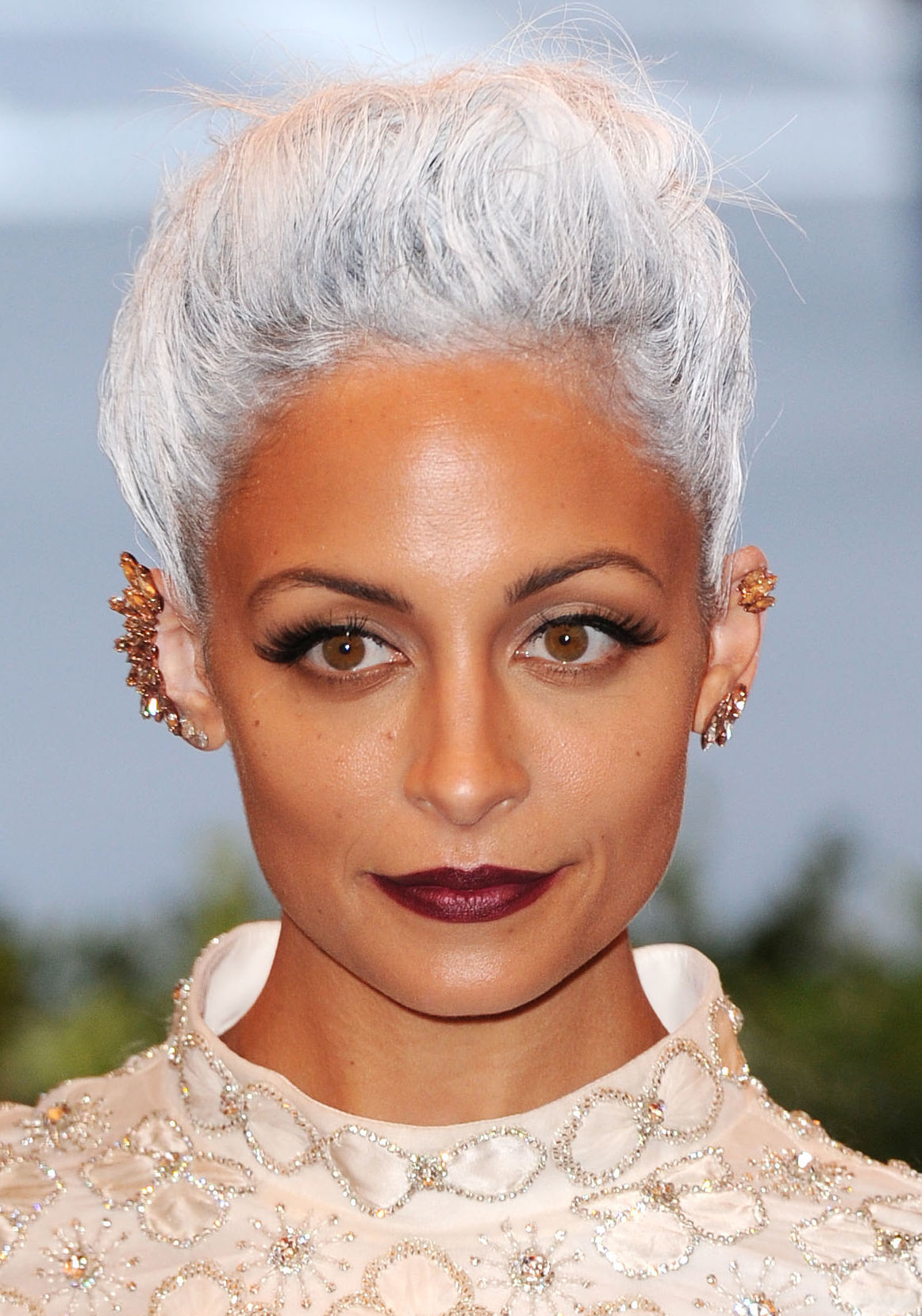 Nicole Richie arrives at the Costume Institute Gala Benefit celebrating the Punk: Chaos To Couture exhibition, Metropolitan Museum of Art in New York on May 6, 2013.