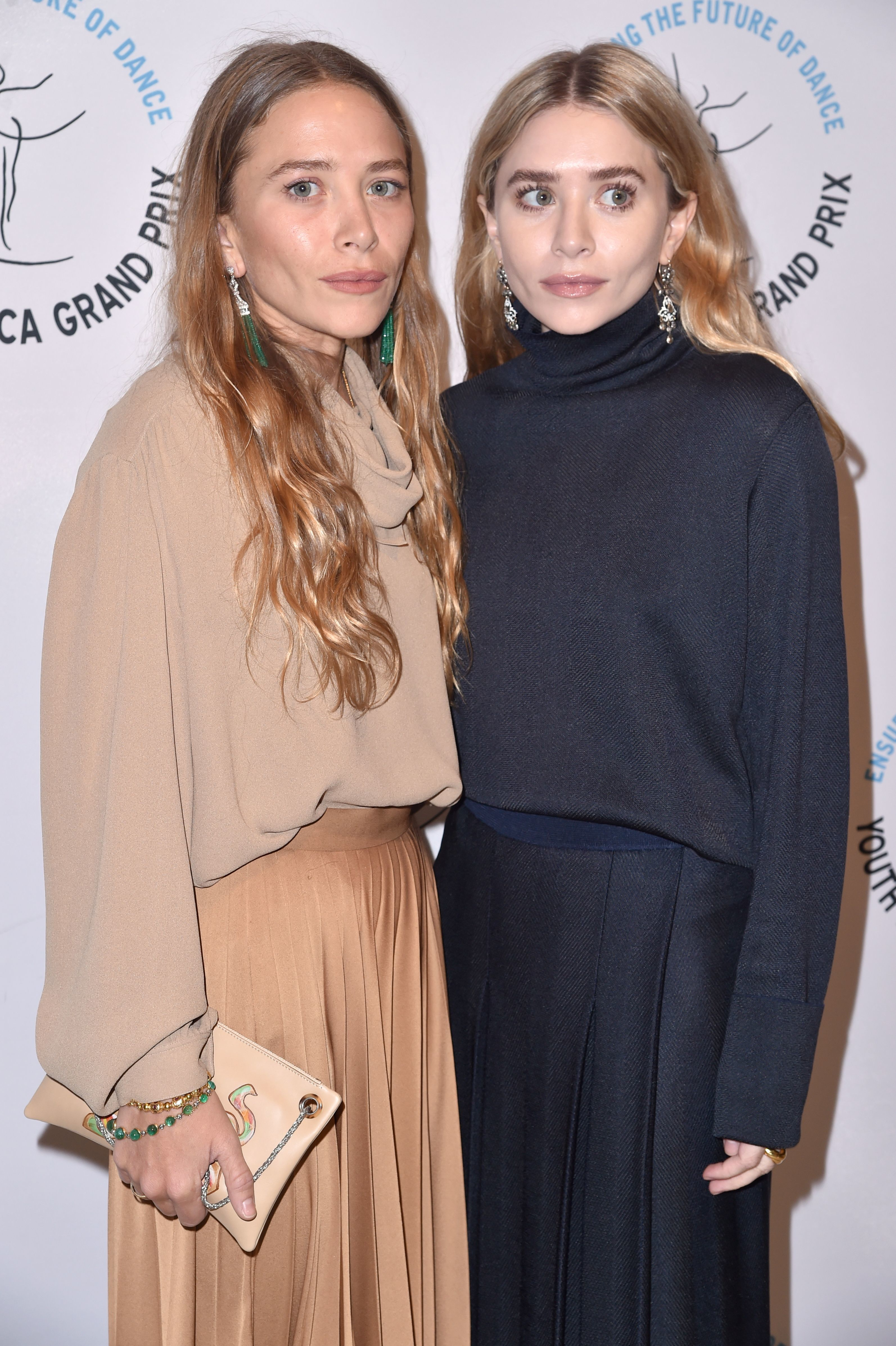 "Mary Kate Olsen and Ashley Olsen attend the Youth America Grand Prix ""Stars of Today Meet the Stars of Tomorrow"" gala in New York City on April 19, 2018."