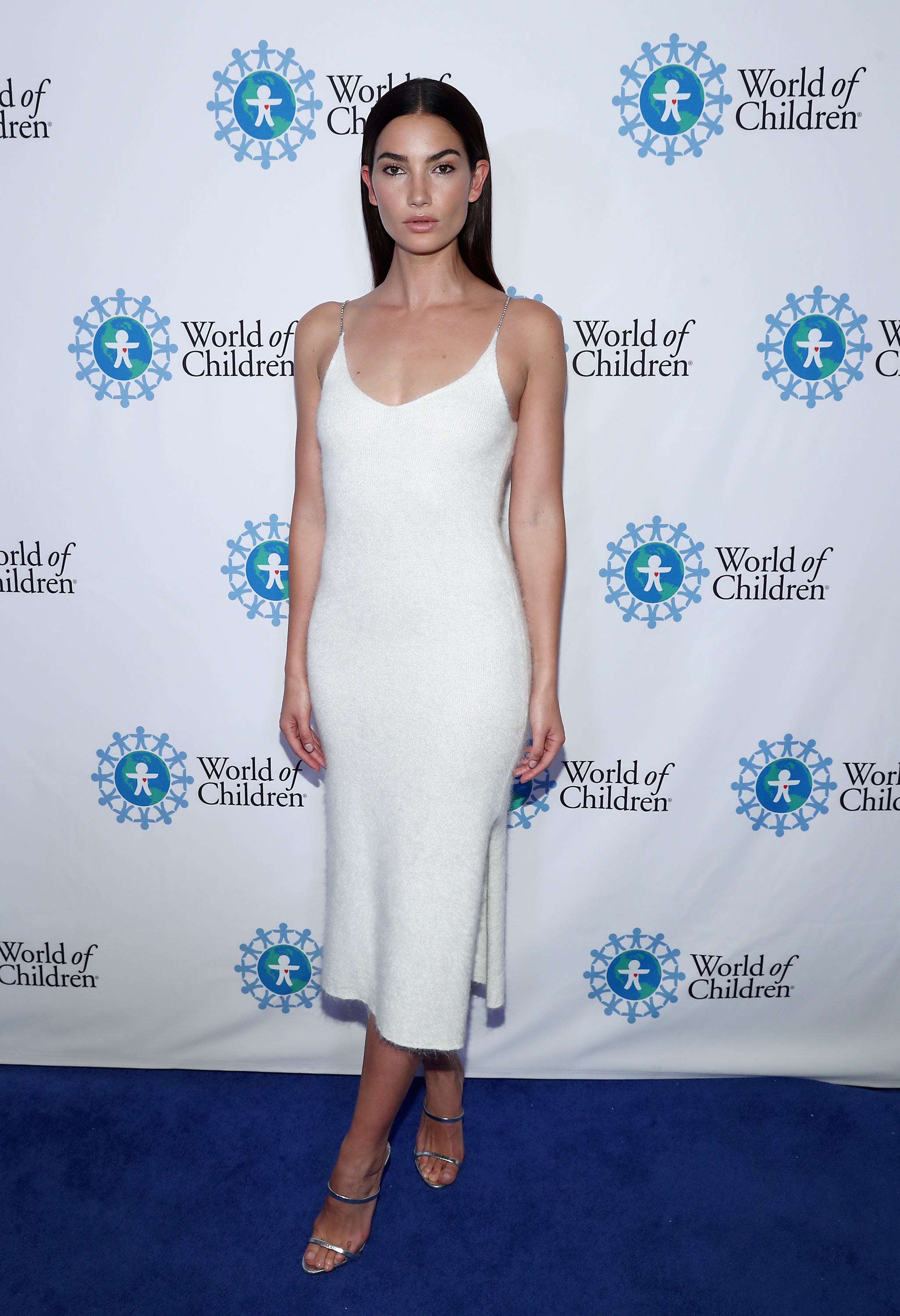 Lily Aldridge attends the World of Children Hero Awards Benefit at the Montage Beverly Hills on April 19, 2018.