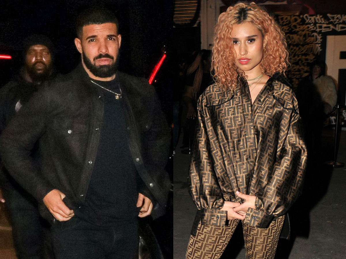 Drake goes to dinner at Craig's restaurant in West Hollywood on Feb. 23, 2018. Raye attends the Fendi Reloaded launch party at Lost Rivers in London on April 12, 2018.