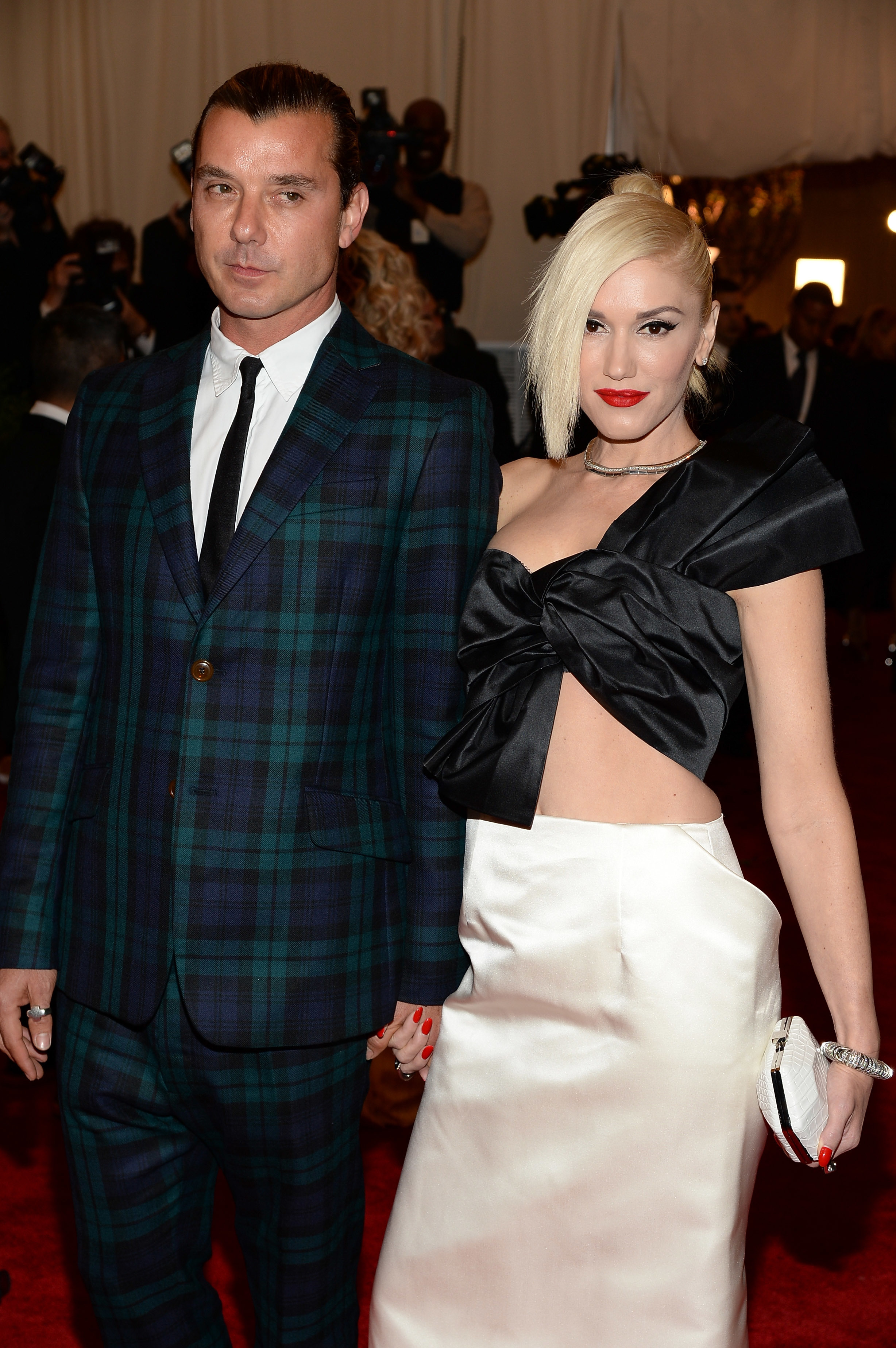 "Gavin Rossdale and Gwen Stefani attend the Costume Institute Gala for the ""PUNK: Chaos to Couture"" exhibition at the Metropolitan Museum of Art in New York City on May 6, 2013."