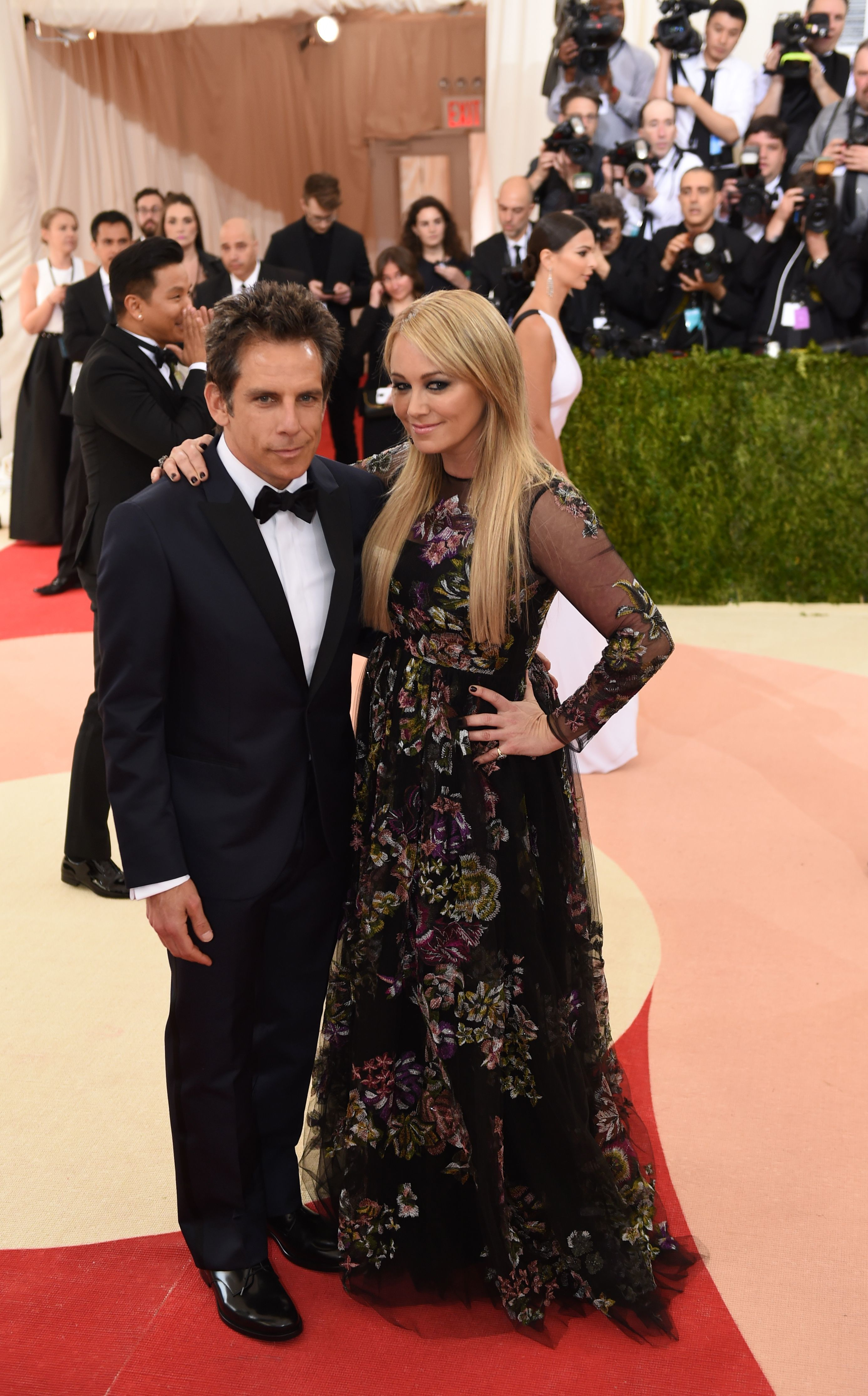 Ben Stiller and wife Christine Taylor arrive for the Costume Institute Benefit at the Metropolitan Museum of Art in New York on May 2, 2016.