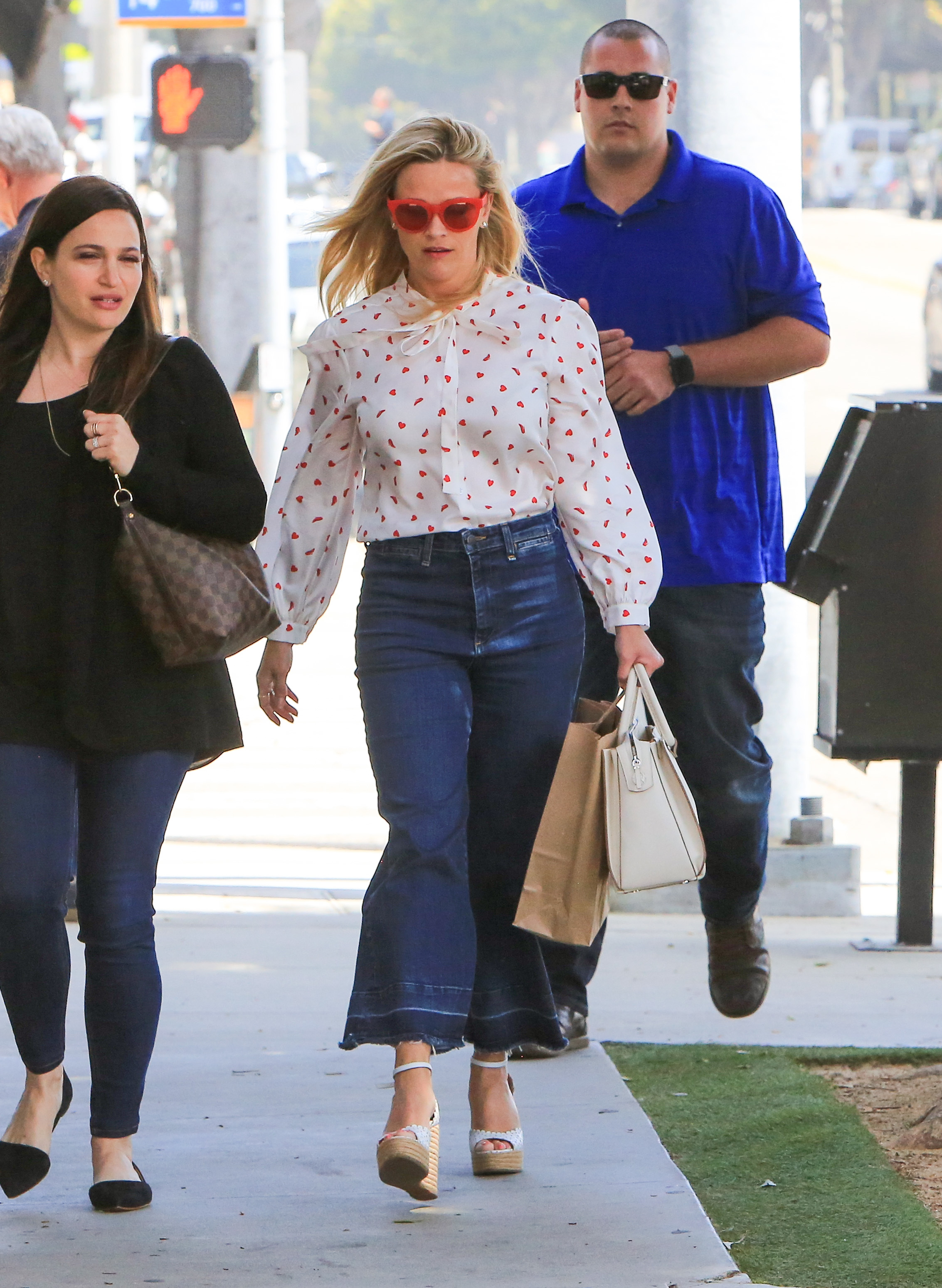 Reese Witherspoon is spotted out and about in Los Angeles on April 23, 2018.