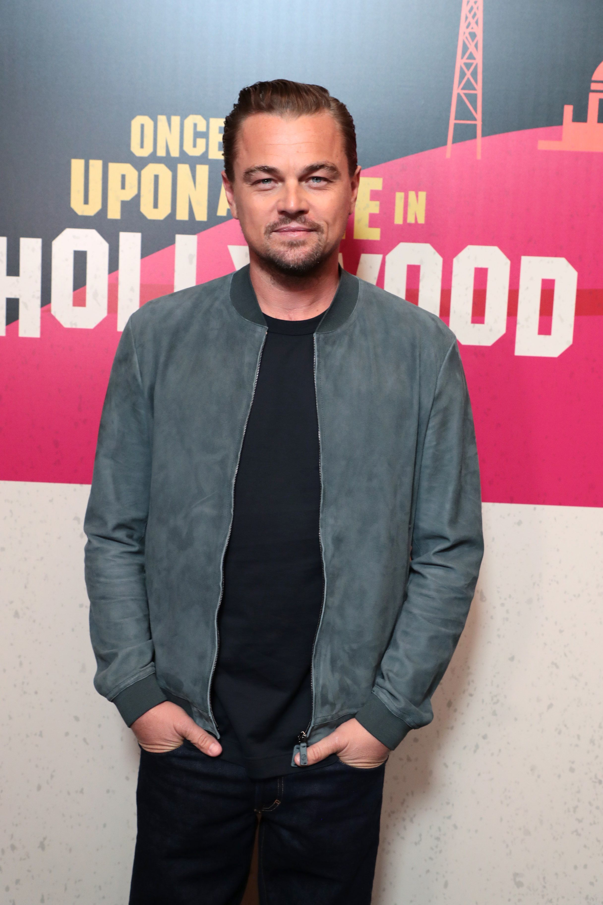 """Leonardo DiCaprio attends the CinemaCon Photo Call for Columbia Pictures' """"Once Upon a Time in Hollywood"""" in Las Vegas on April 23, 2018."""
