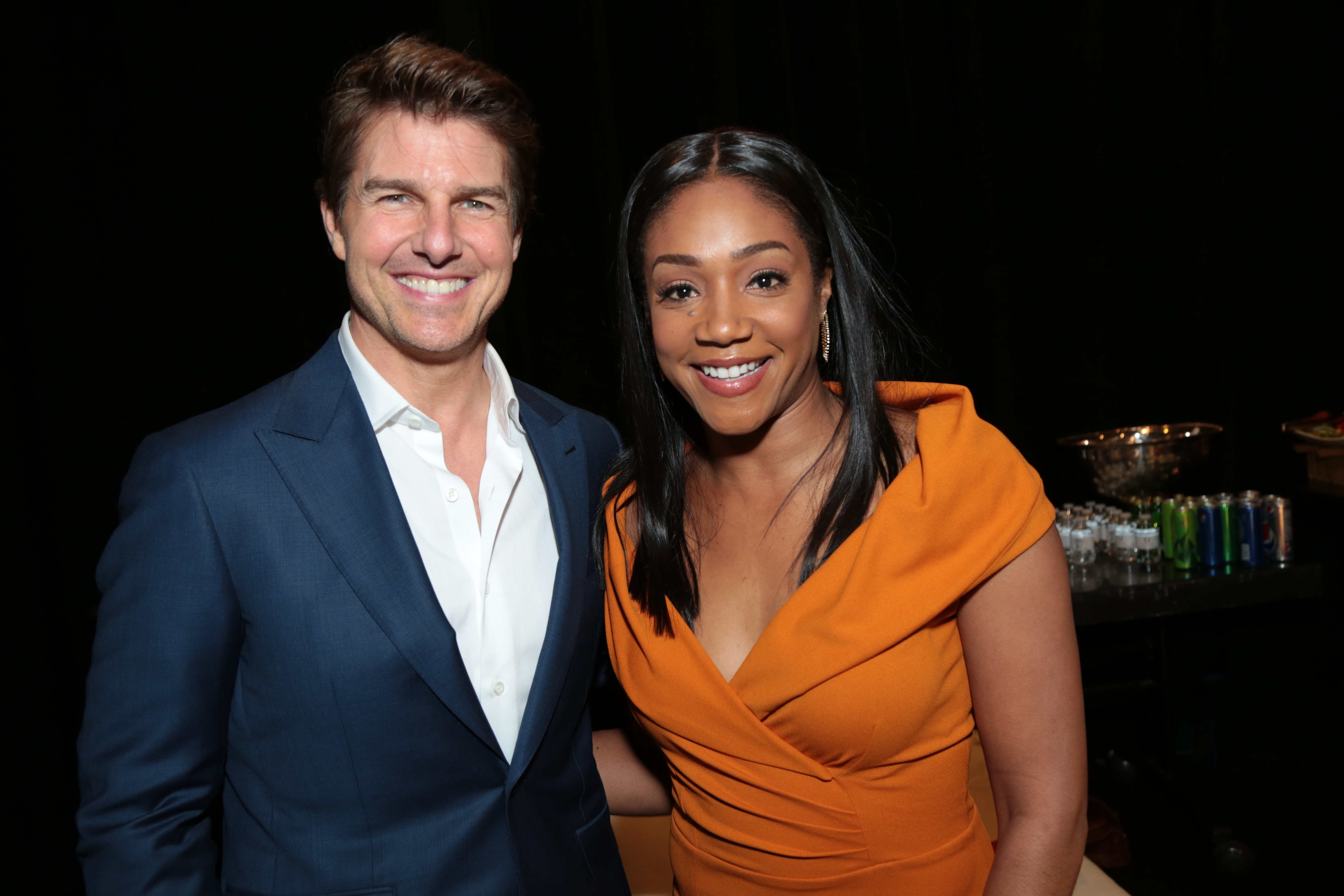 Tom Cruise and Tiffany Haddish attend the Cinemacon 2018 for the Paramount Pictures Presentation in Las Vegas on April 25, 2018.