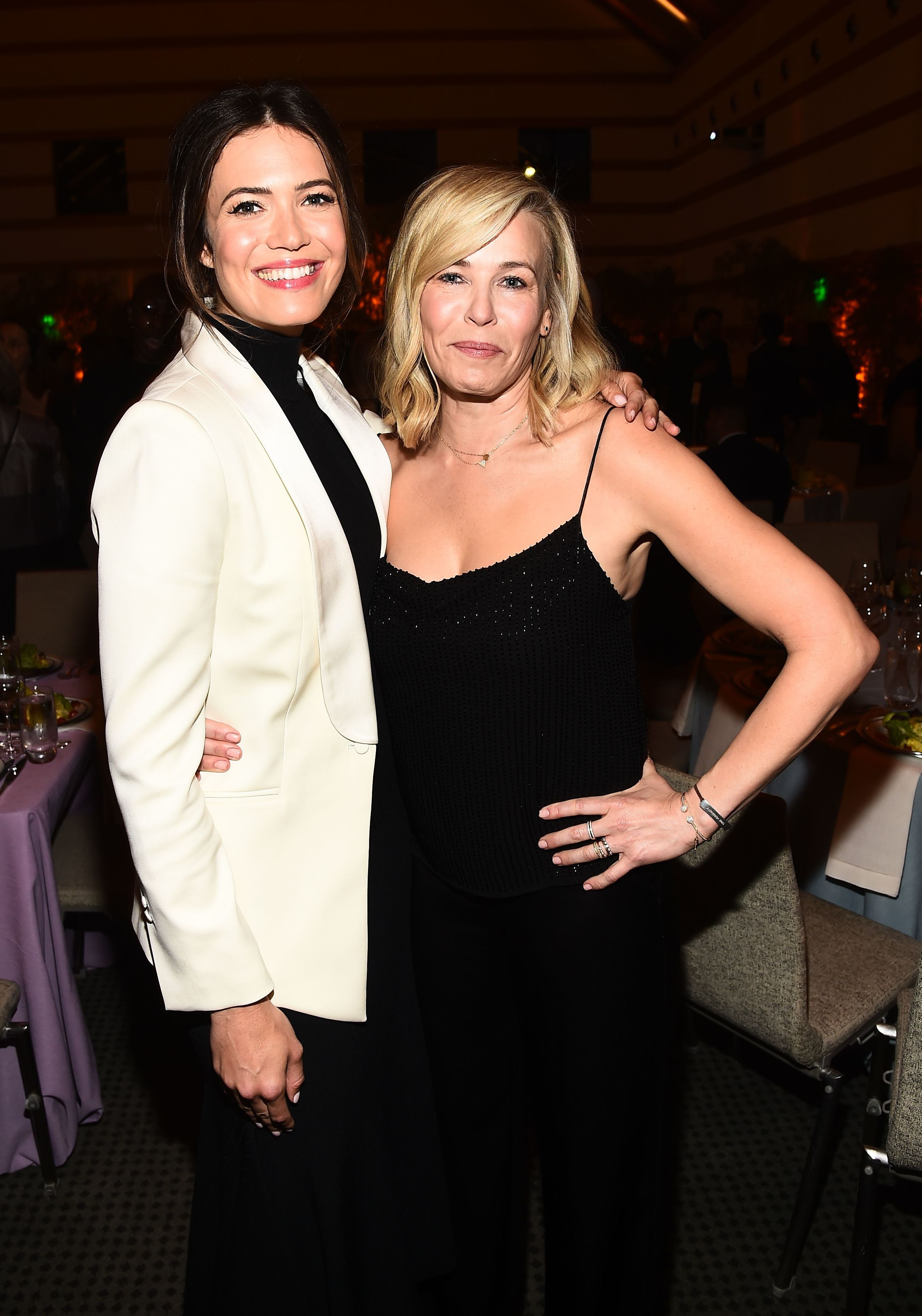 Mandy Moore and Chelsea Handler attend the Communities In Schools Annual Celebration in Los Angeles on May 1, 2018.