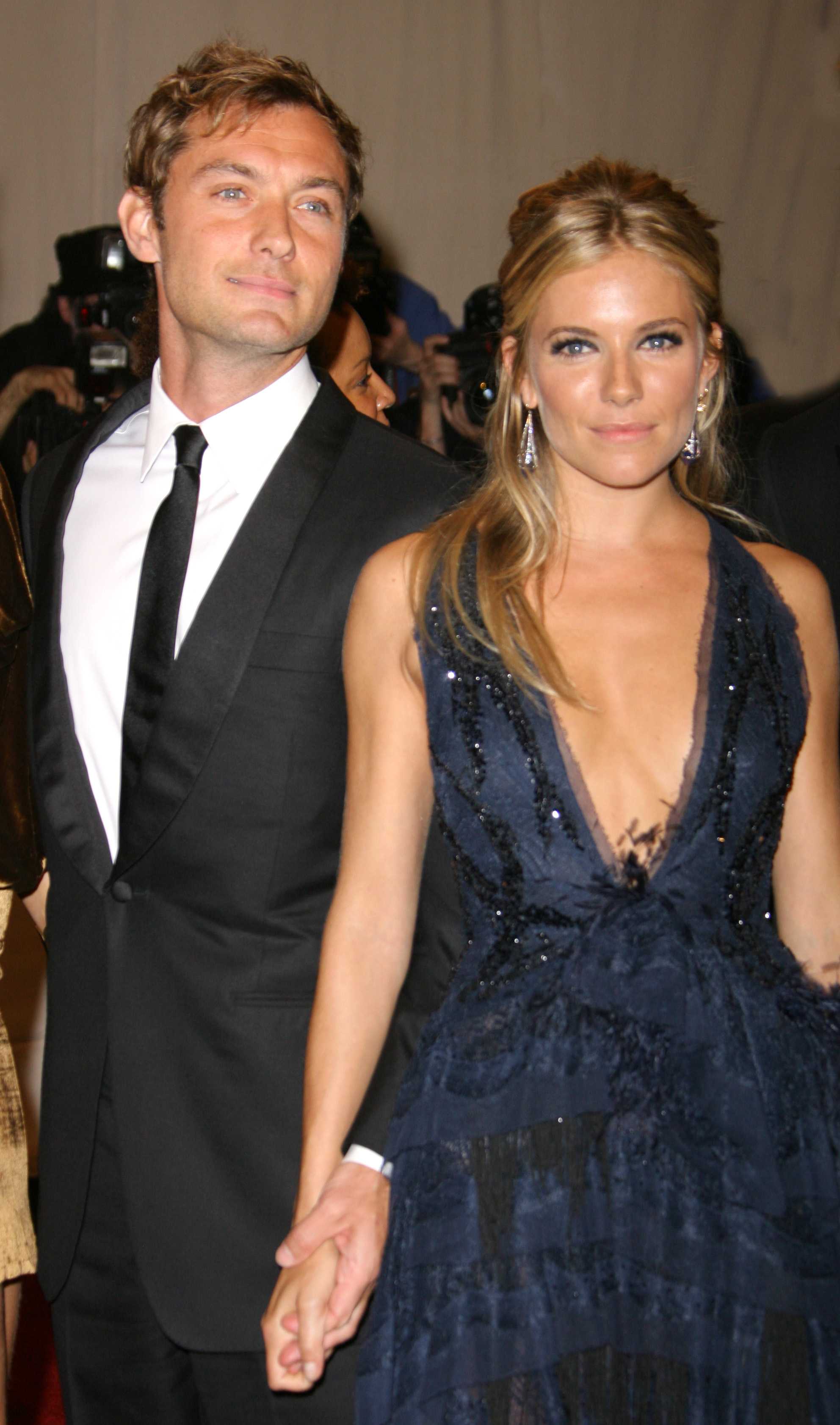 Jude Law and Sienna Miller attend the Costume Institute Gala Benefit American Woman: Fashioning a National Identity at the Metropolitan Museum of Art in New York City on May 3, 2010.