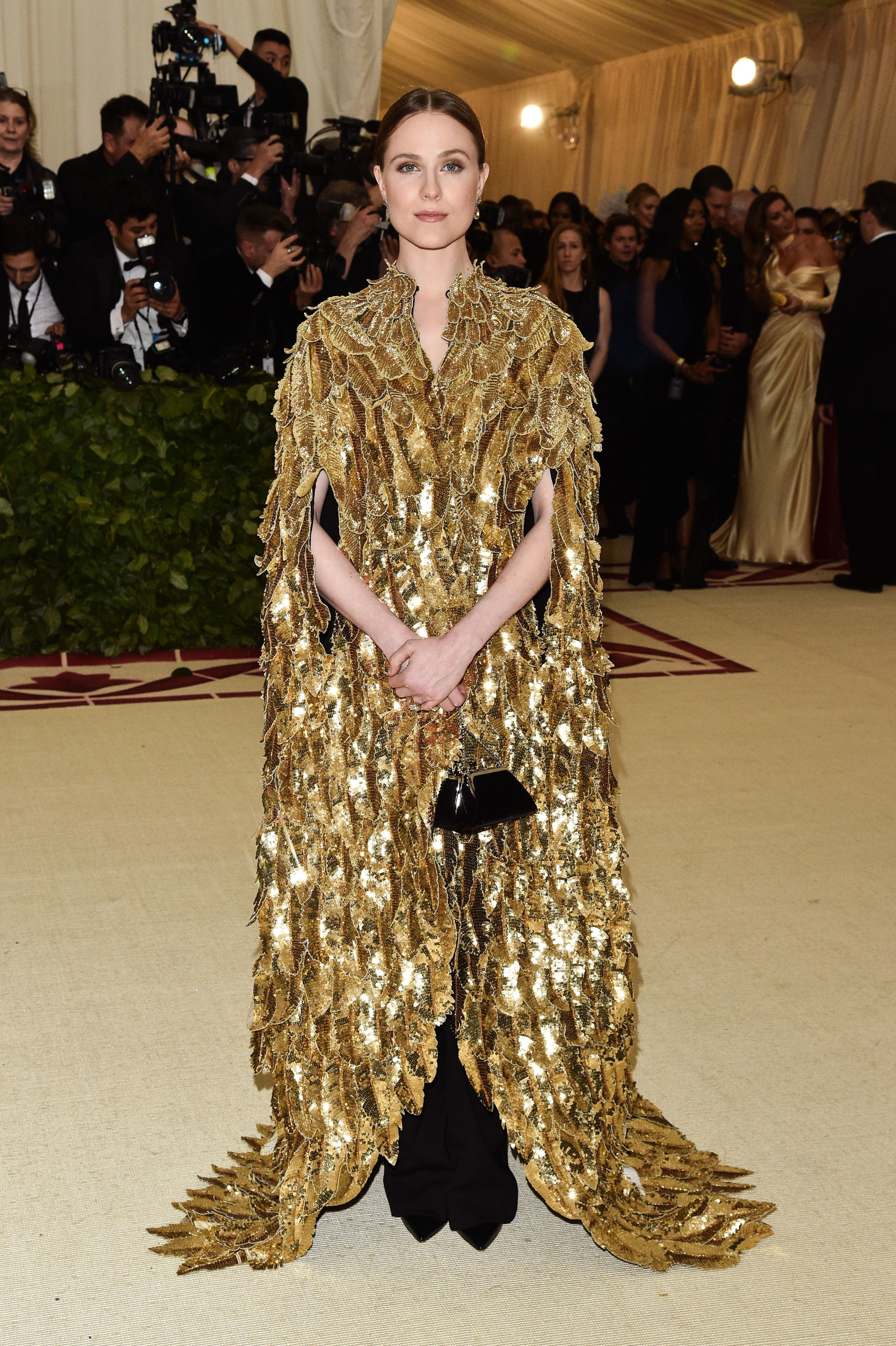 Evan Rachel Wood attends The Metropolitan Museum of Art's Costume Institute Benefit celebrating the opening of Heavenly Bodies: Fashion and the Catholic Imagination in New York City on May 7, 2018.