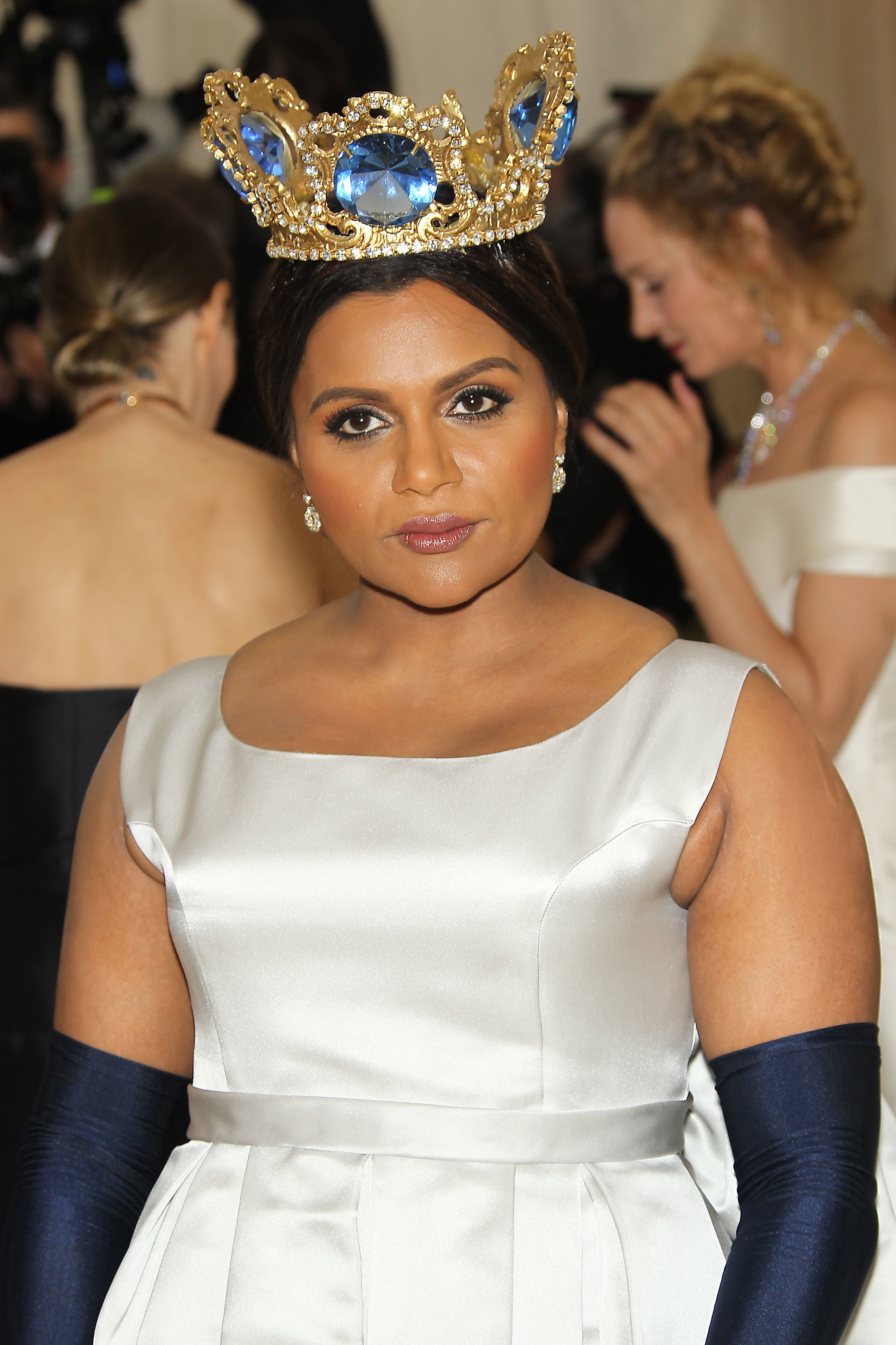 Mindy Kaling attends The Metropolitan Museum of Art's Costume Institute Benefit celebrating the opening of Heavenly Bodies: Fashion and the Catholic Imagination in New York City on May 7, 2018.