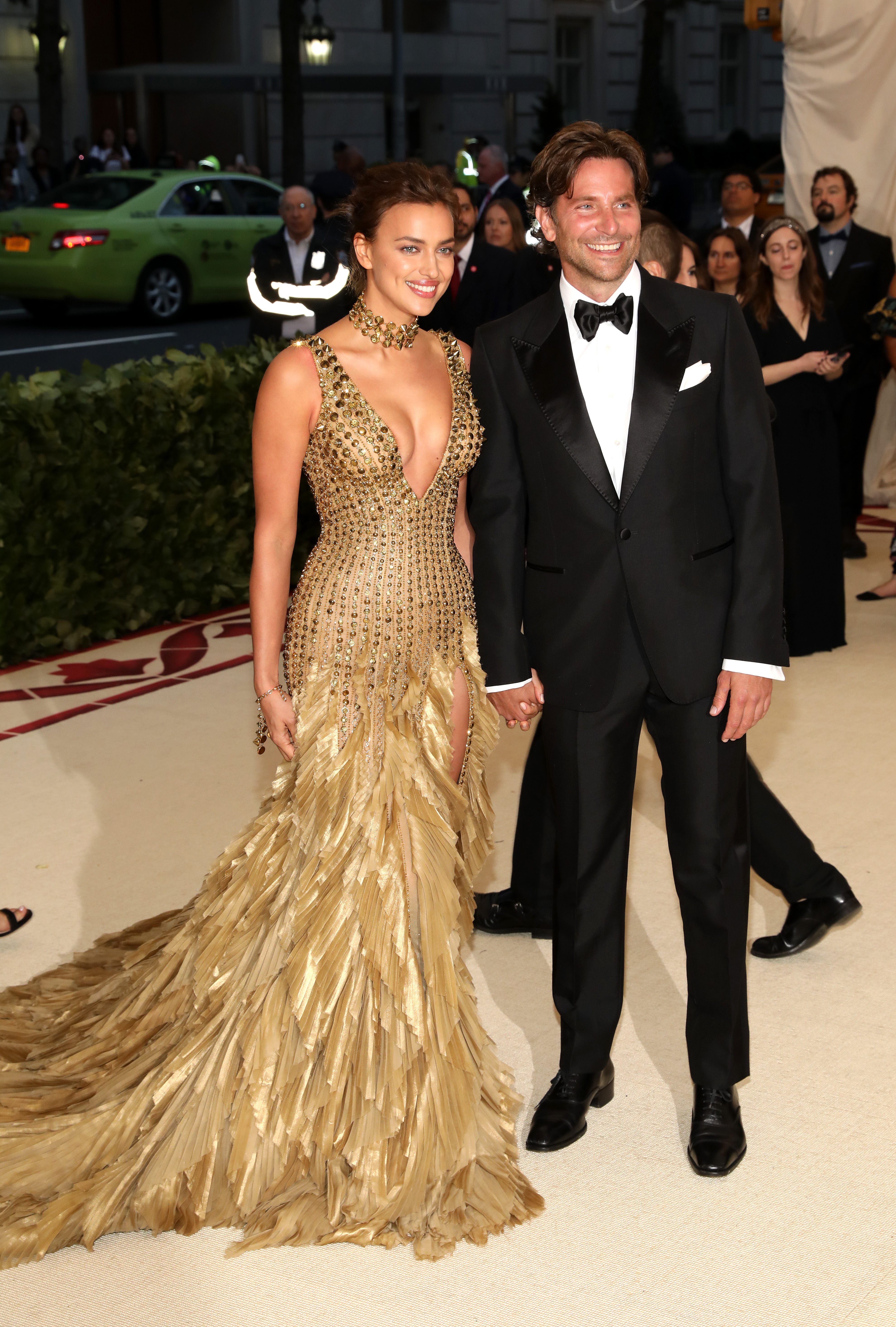 Irina Shayk and Bradley Cooper attend The Metropolitan Museum of Art's Costume Institute Benefit celebrating the opening of Heavenly Bodies: Fashion and the Catholic Imagination in New York City on May 7, 2018.