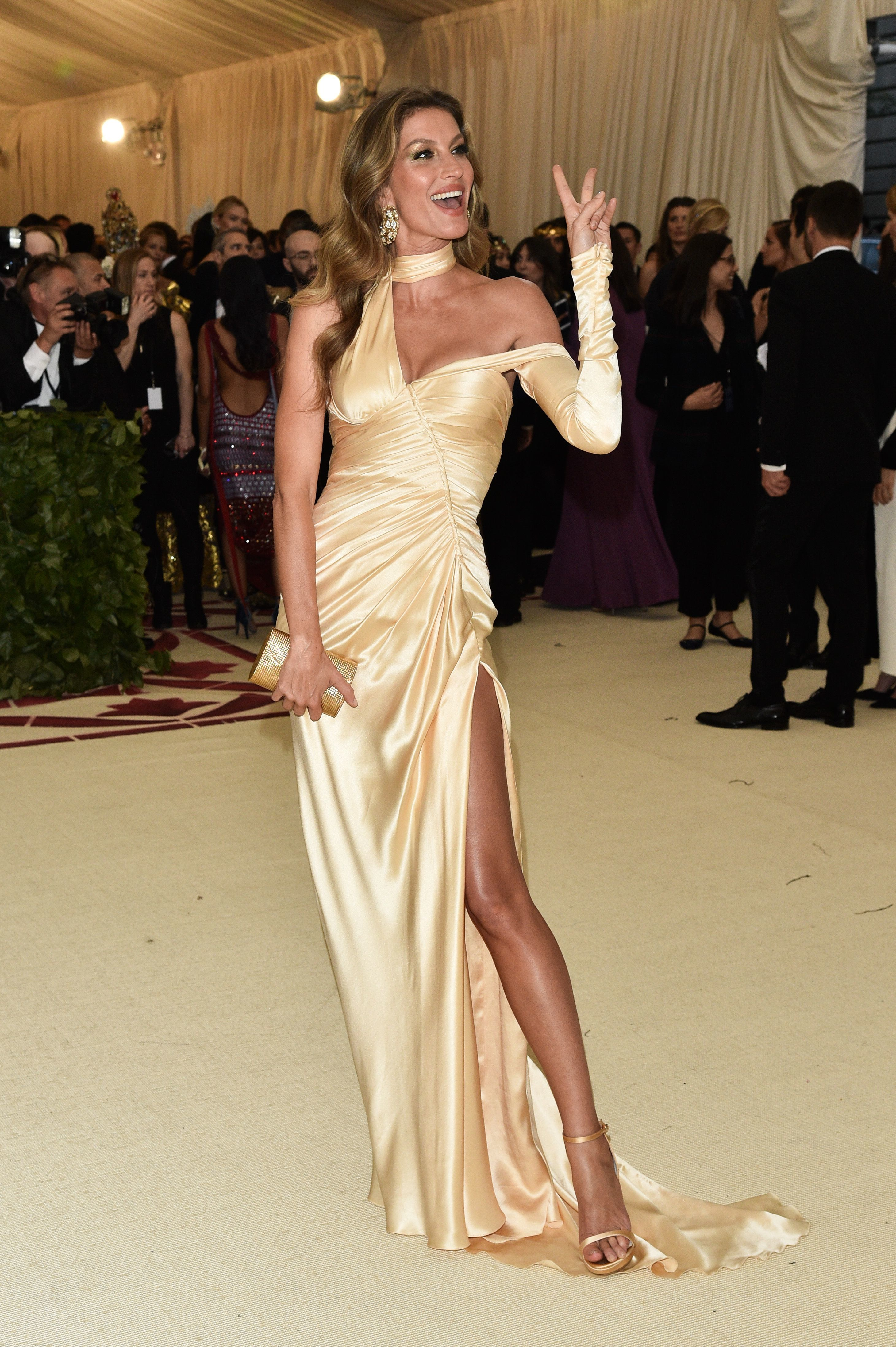 Gisele Bundchen attends The Metropolitan Museum of Art's Costume Institute Benefit celebrating the opening of Heavenly Bodies: Fashion and the Catholic Imagination in New York City on May 7, 2018.