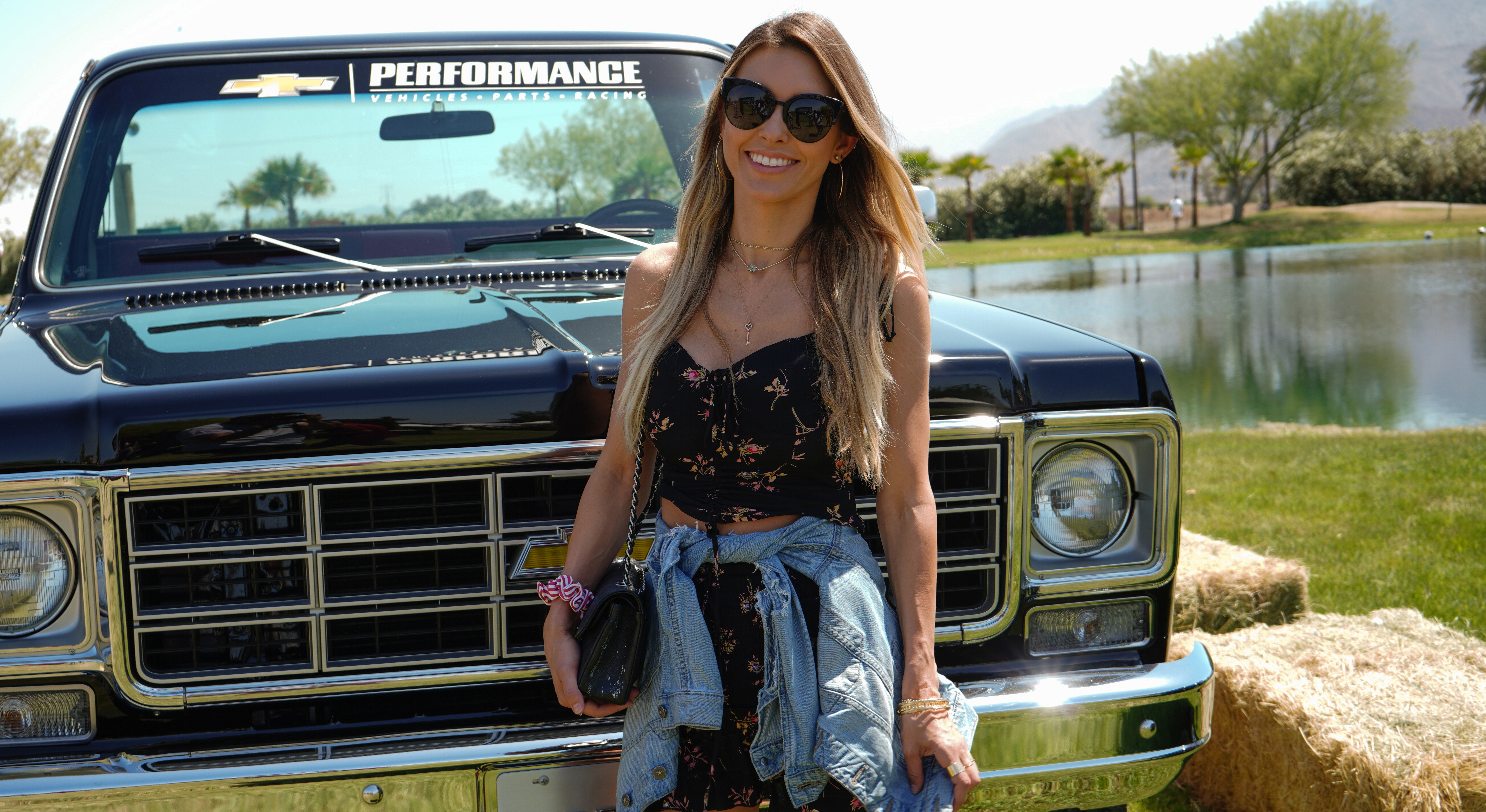 Audrina Patridge attends the celebration of 100 Years of Chevy Trucks at the Boots On Stage 3rd Annual Shindig, In The Desert Presented by Chevrolet on April 29, 2018.