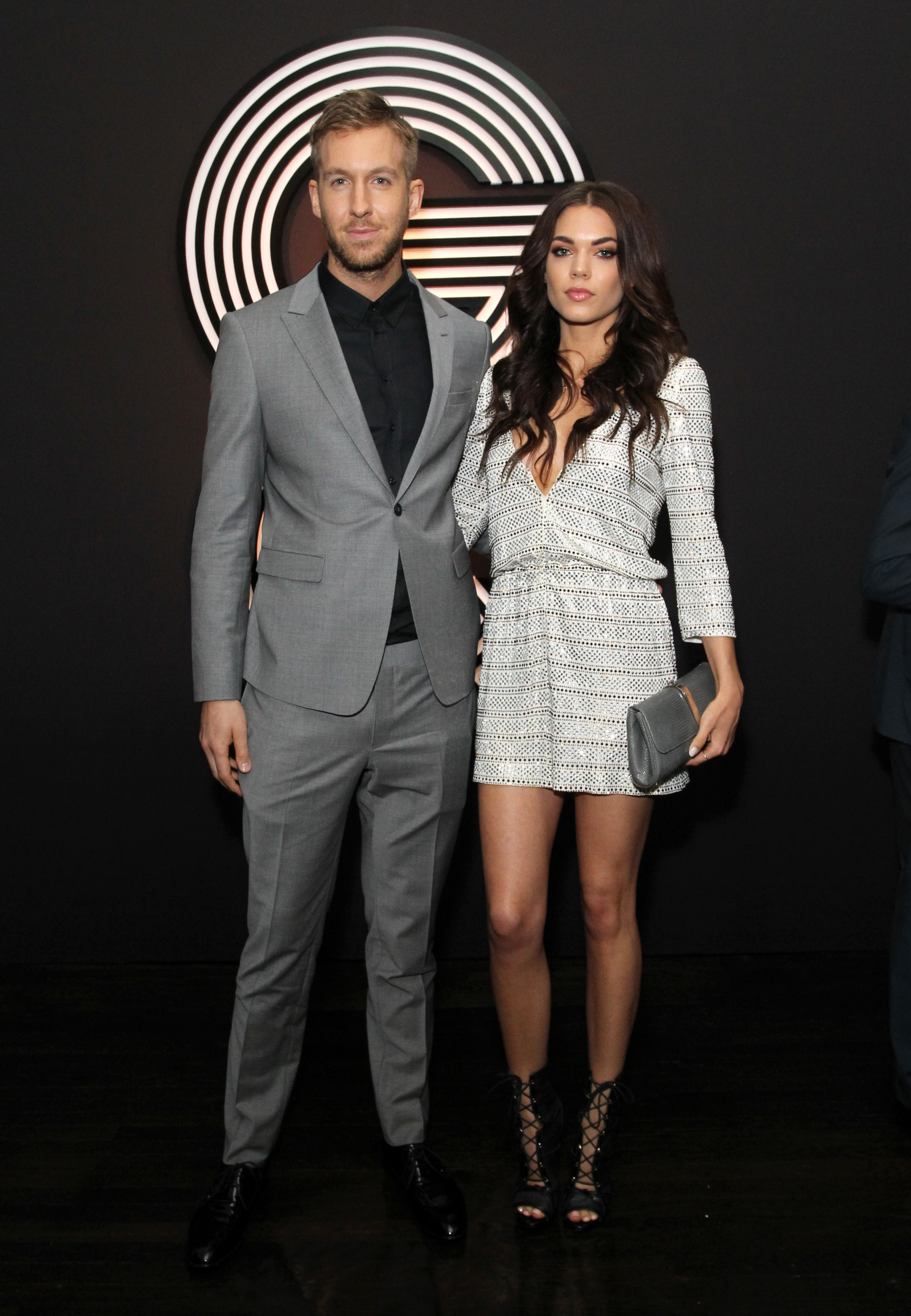 Calvin Harris and Aarika Wolf attend the GQ and Giorgio Armani Grammys afterparty at the Hollywood Athletic Club in Hollywood on Feb. 8, 2015.