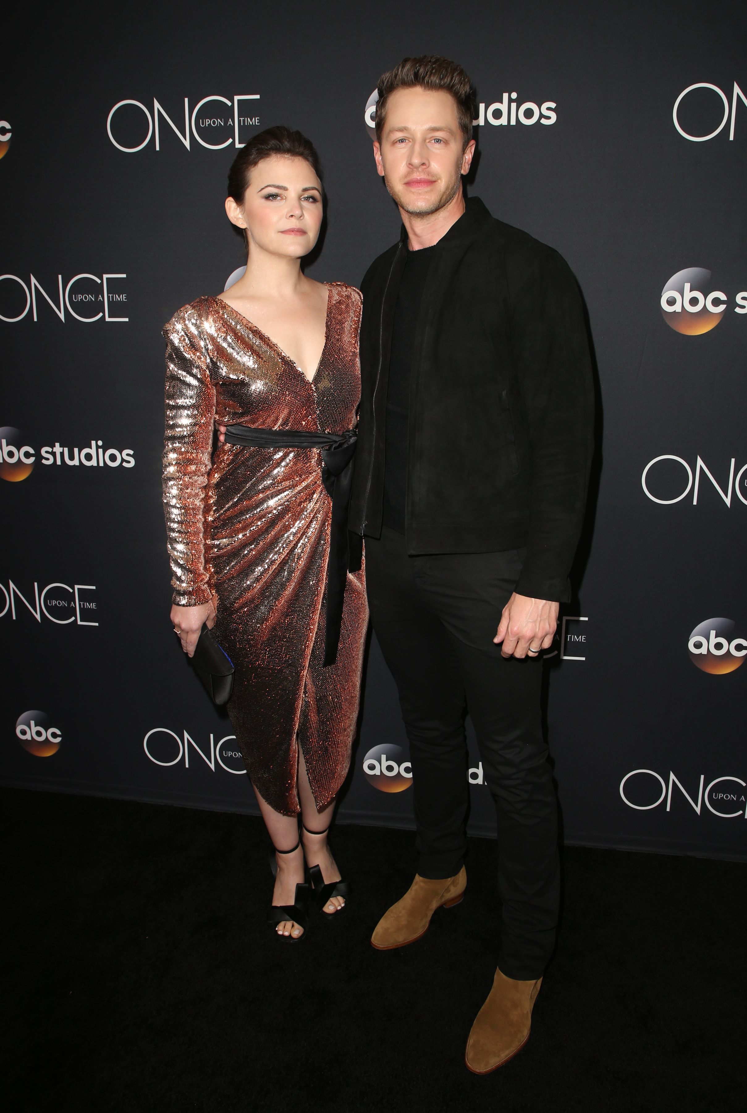 """Ginnifer Goodwin and Josh Dallas attend the """"Once Upon a Time"""" TV show finale in Los Angeles on May 8, 2018."""