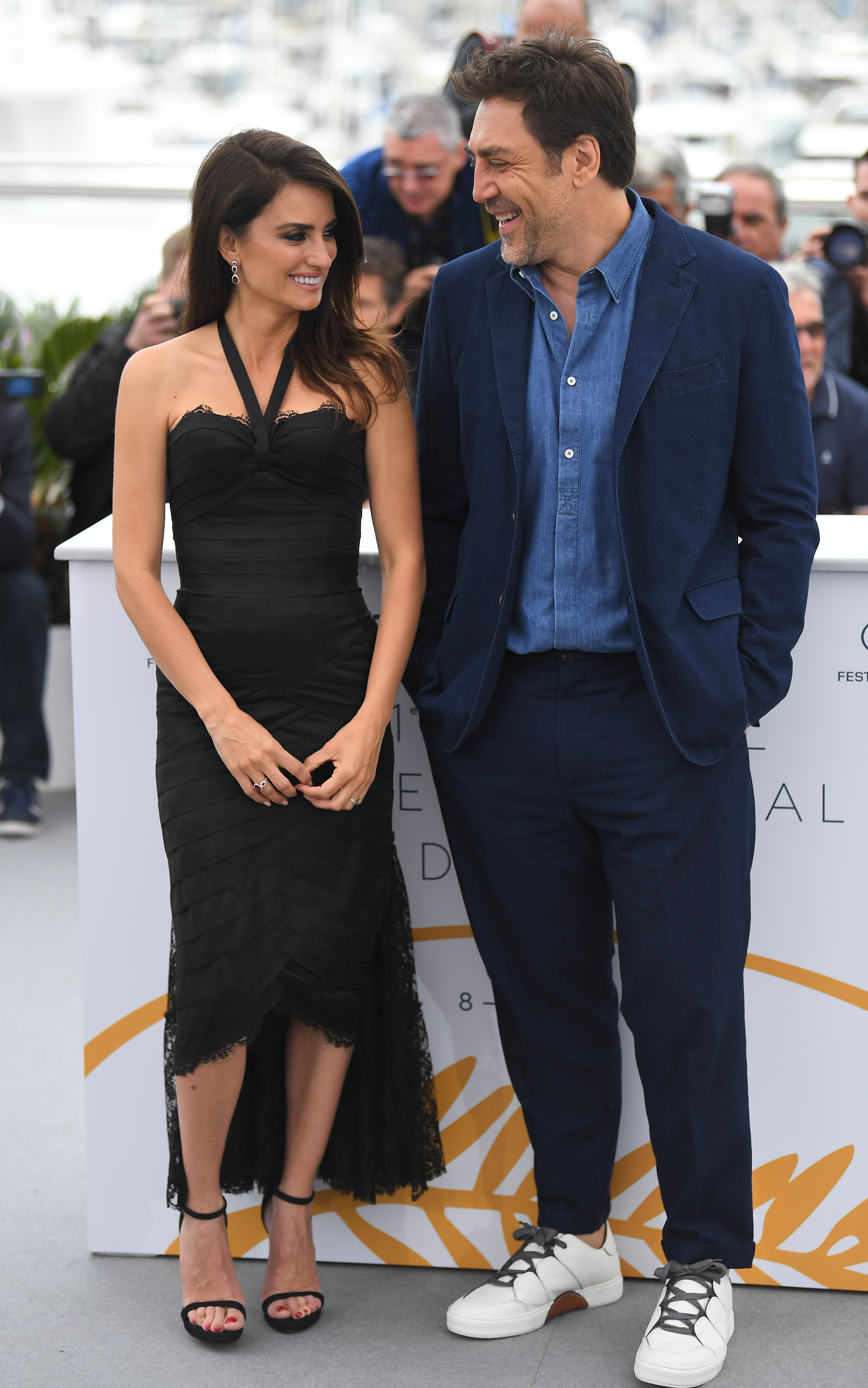 "Penelope Cruz and Javier Bardem attend the ""Everybody Knows"" photocall at the 71st Cannes Film Festival on May 9, 2018."